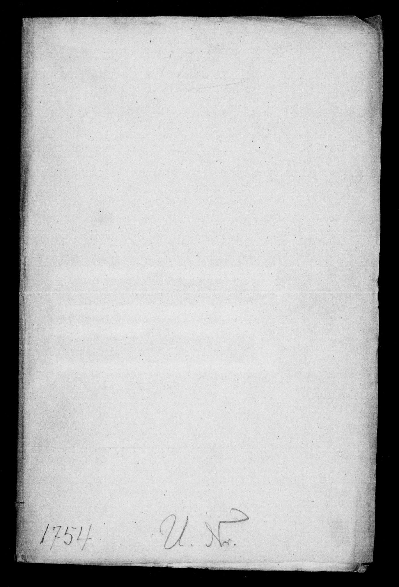 DRA, Generalkirkeinspektionskollegiet, F4-08/F4-08-01: Indkomne sager, 1754