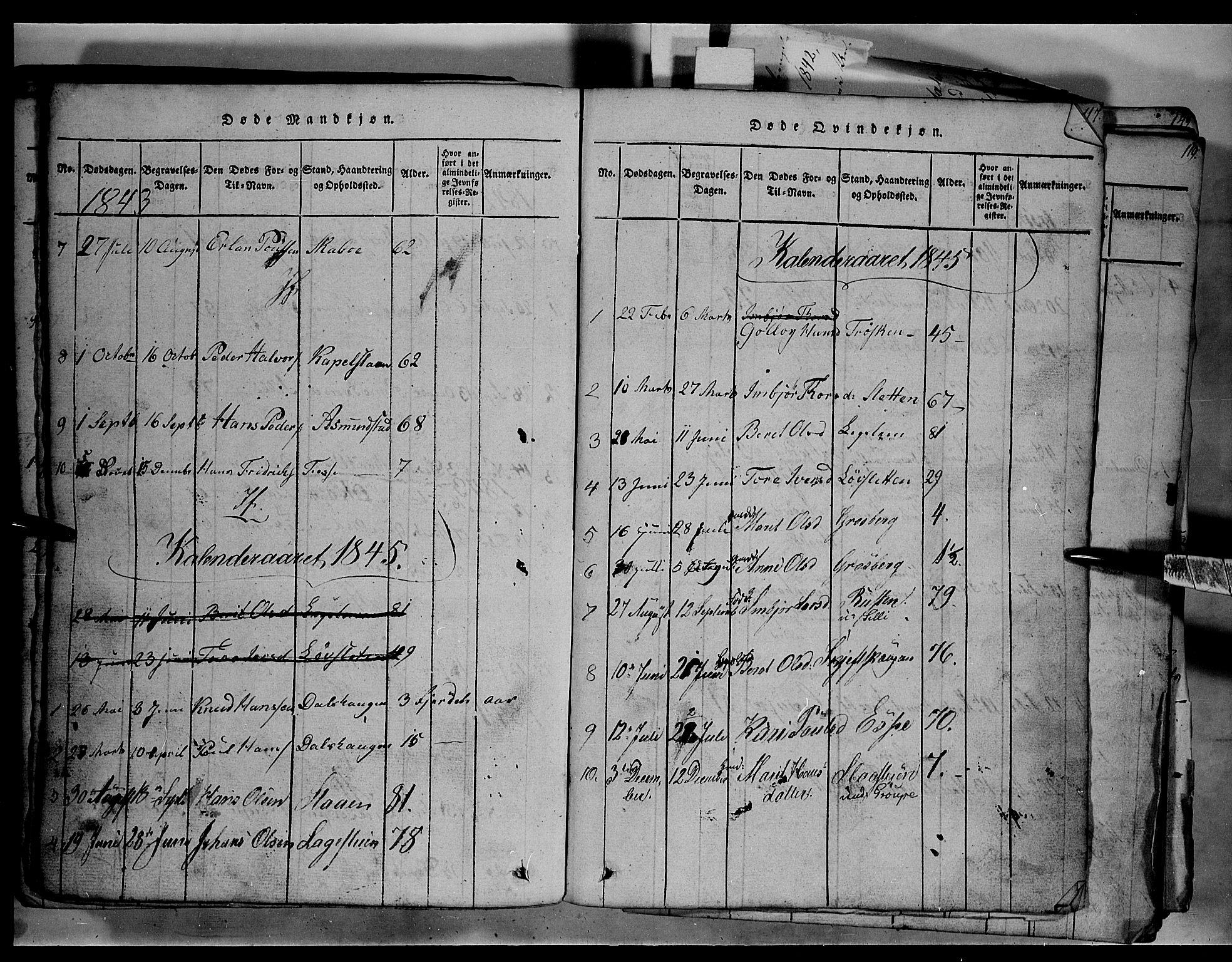 SAH, Fron prestekontor, H/Ha/Hab/L0003: Klokkerbok nr. 3, 1816-1850, s. 115