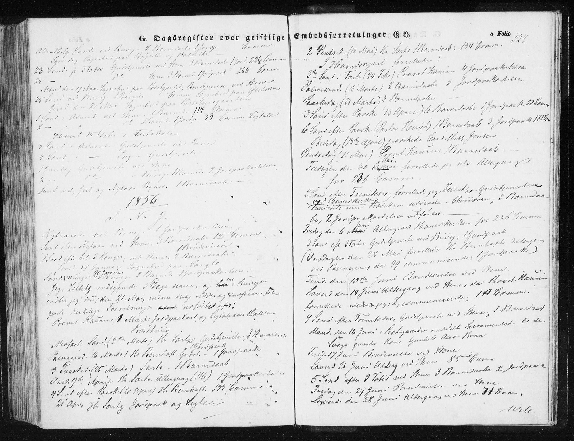 SAT, Ministerialprotokoller, klokkerbøker og fødselsregistre - Sør-Trøndelag, 612/L0376: Ministerialbok nr. 612A08, 1846-1859, s. 324
