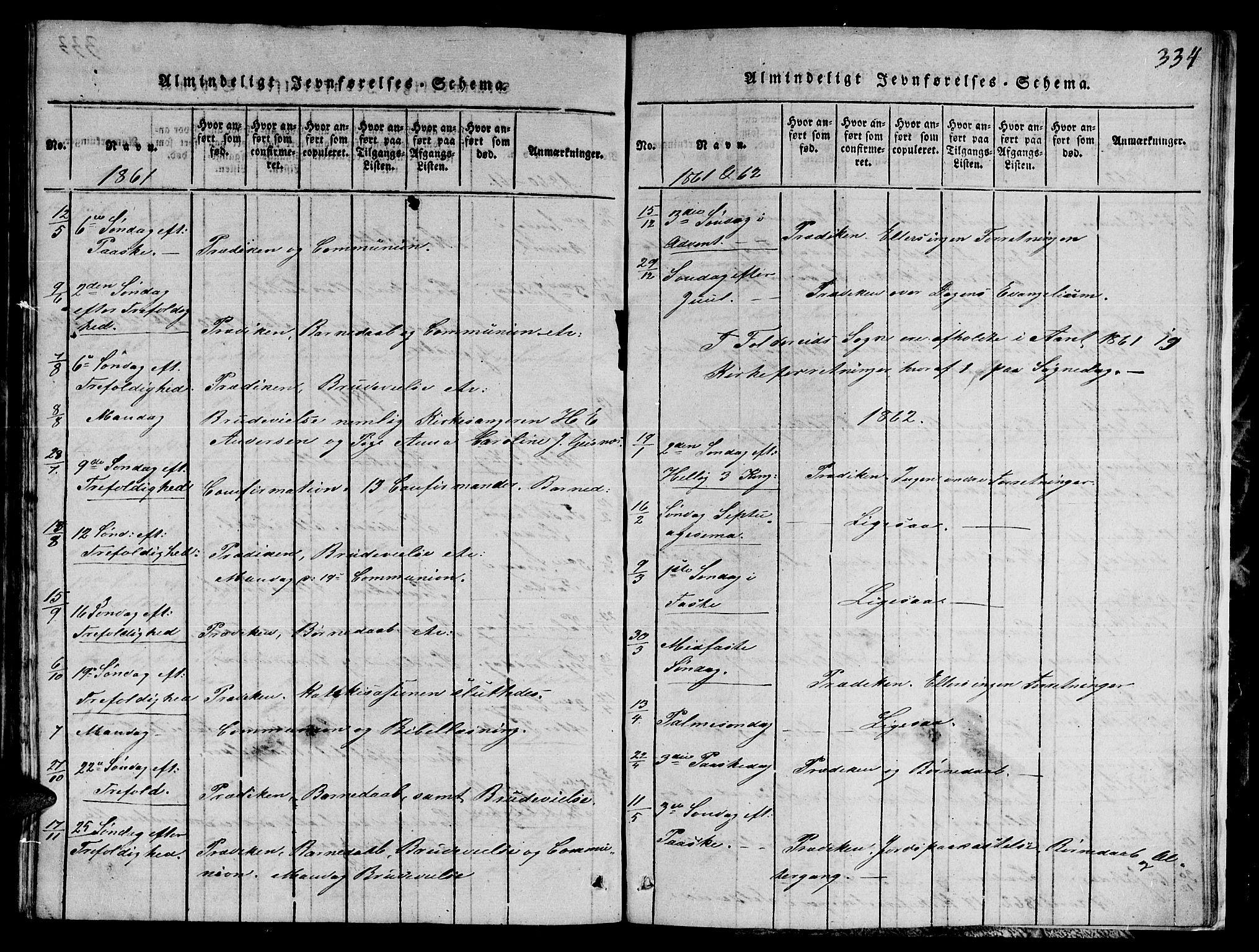 SAT, Ministerialprotokoller, klokkerbøker og fødselsregistre - Nord-Trøndelag, 780/L0648: Klokkerbok nr. 780C01 /1, 1815-1870, s. 334