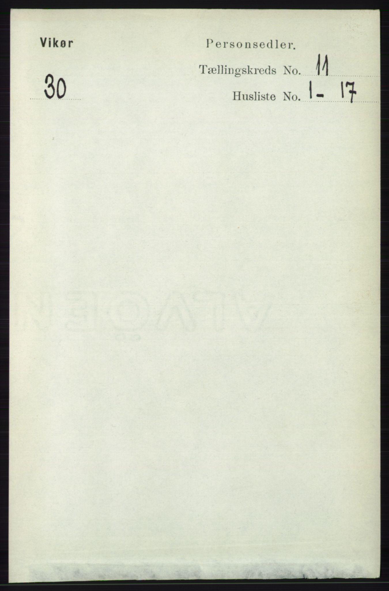 RA, Folketelling 1891 for 1238 Vikør herred, 1891, s. 3145