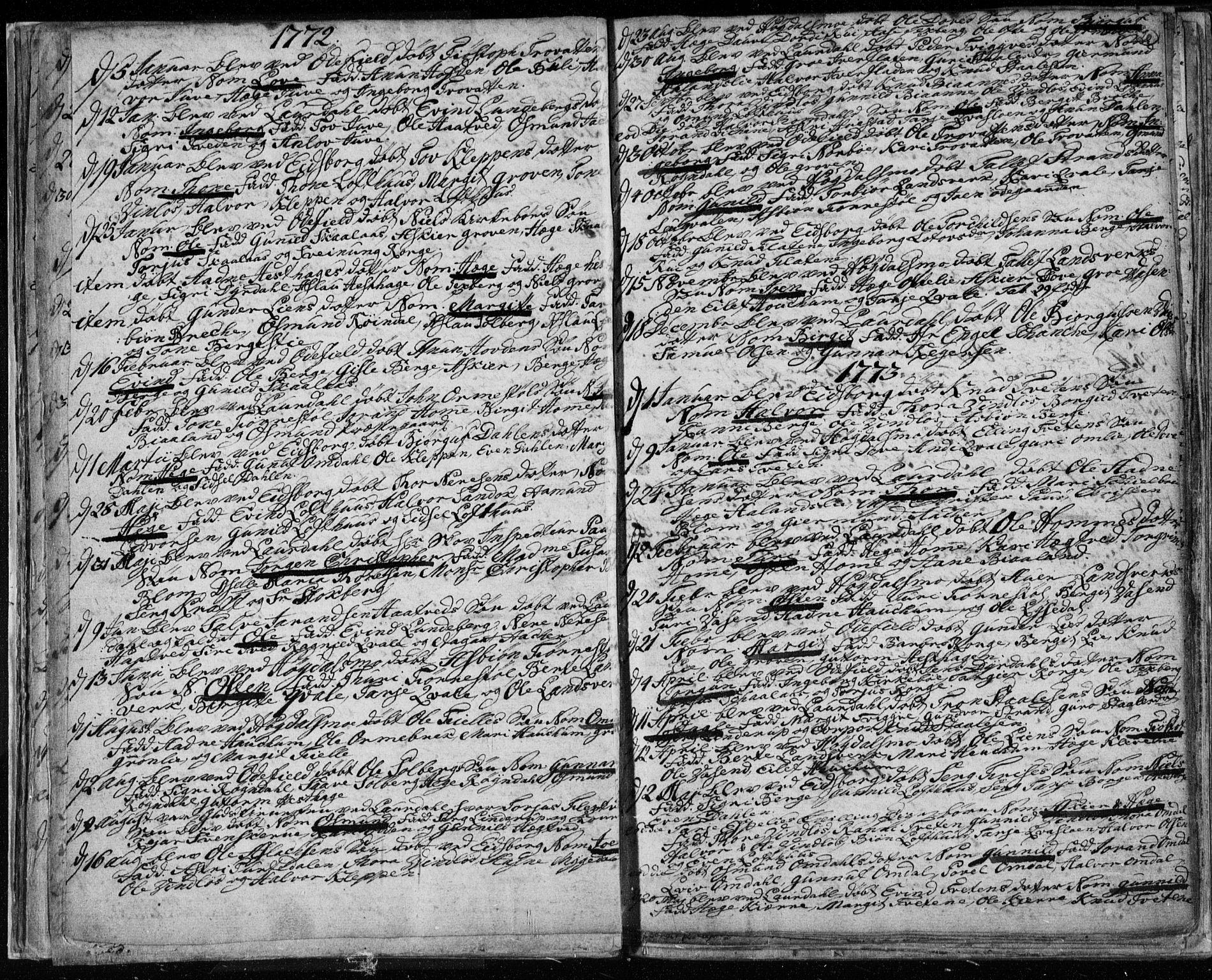 SAKO, Lårdal kirkebøker, F/Fa/L0003: Ministerialbok nr. I 3, 1754-1790, s. 20
