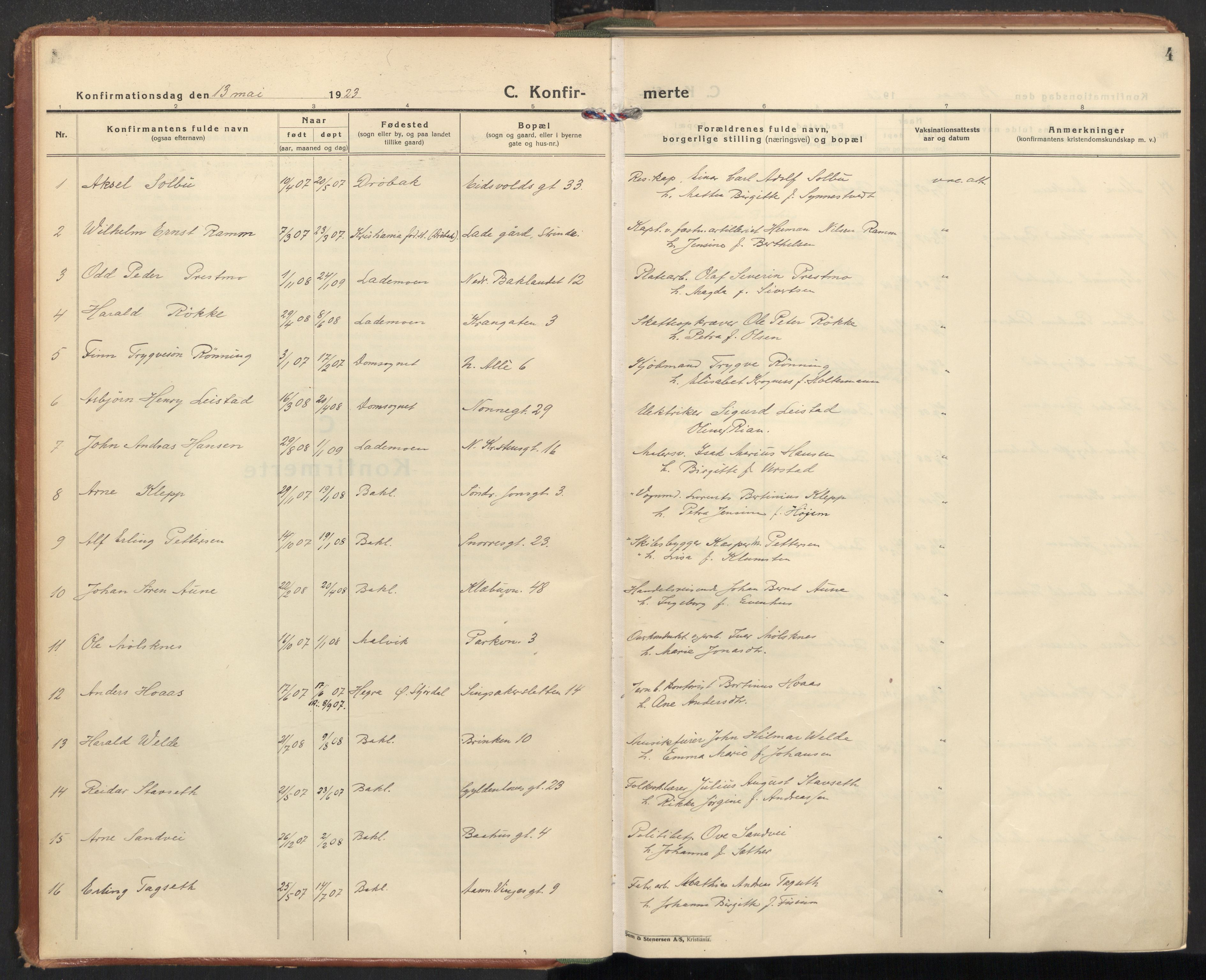 SAT, Ministerialprotokoller, klokkerbøker og fødselsregistre - Sør-Trøndelag, 604/L0208: Ministerialbok nr. 604A28, 1923-1937, s. 4