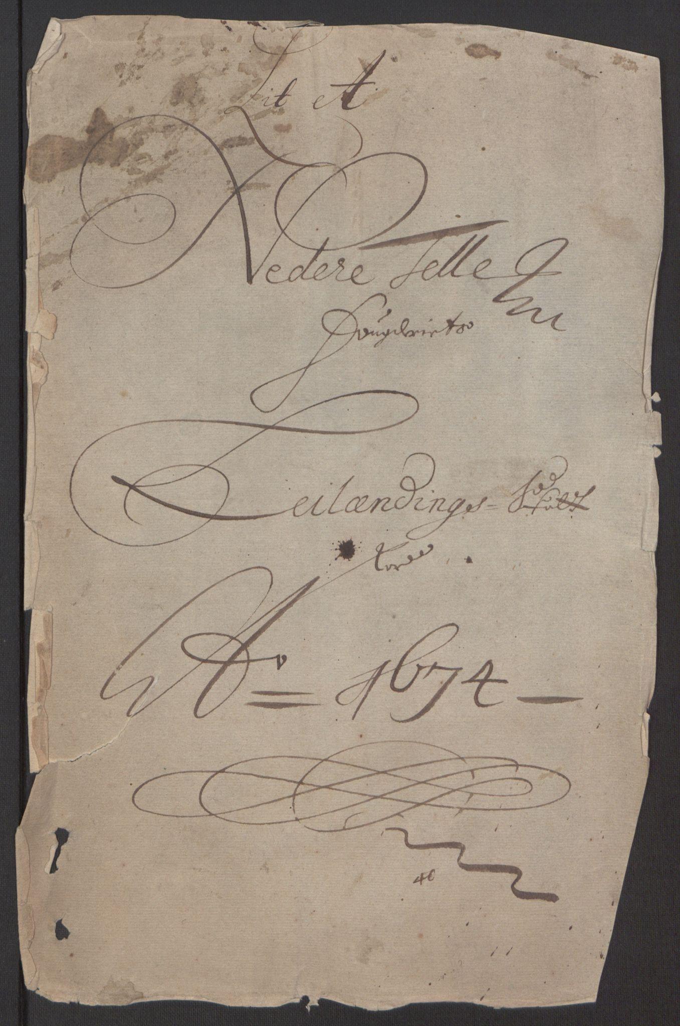 RA, Rentekammeret inntil 1814, Reviderte regnskaper, Fogderegnskap, R35/L2061: Fogderegnskap Øvre og Nedre Telemark, 1673-1674, s. 8