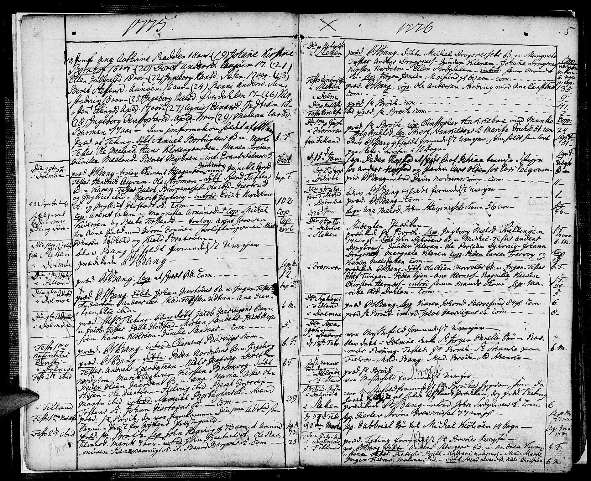 SAT, Ministerialprotokoller, klokkerbøker og fødselsregistre - Sør-Trøndelag, 634/L0526: Ministerialbok nr. 634A02, 1775-1818, s. 5