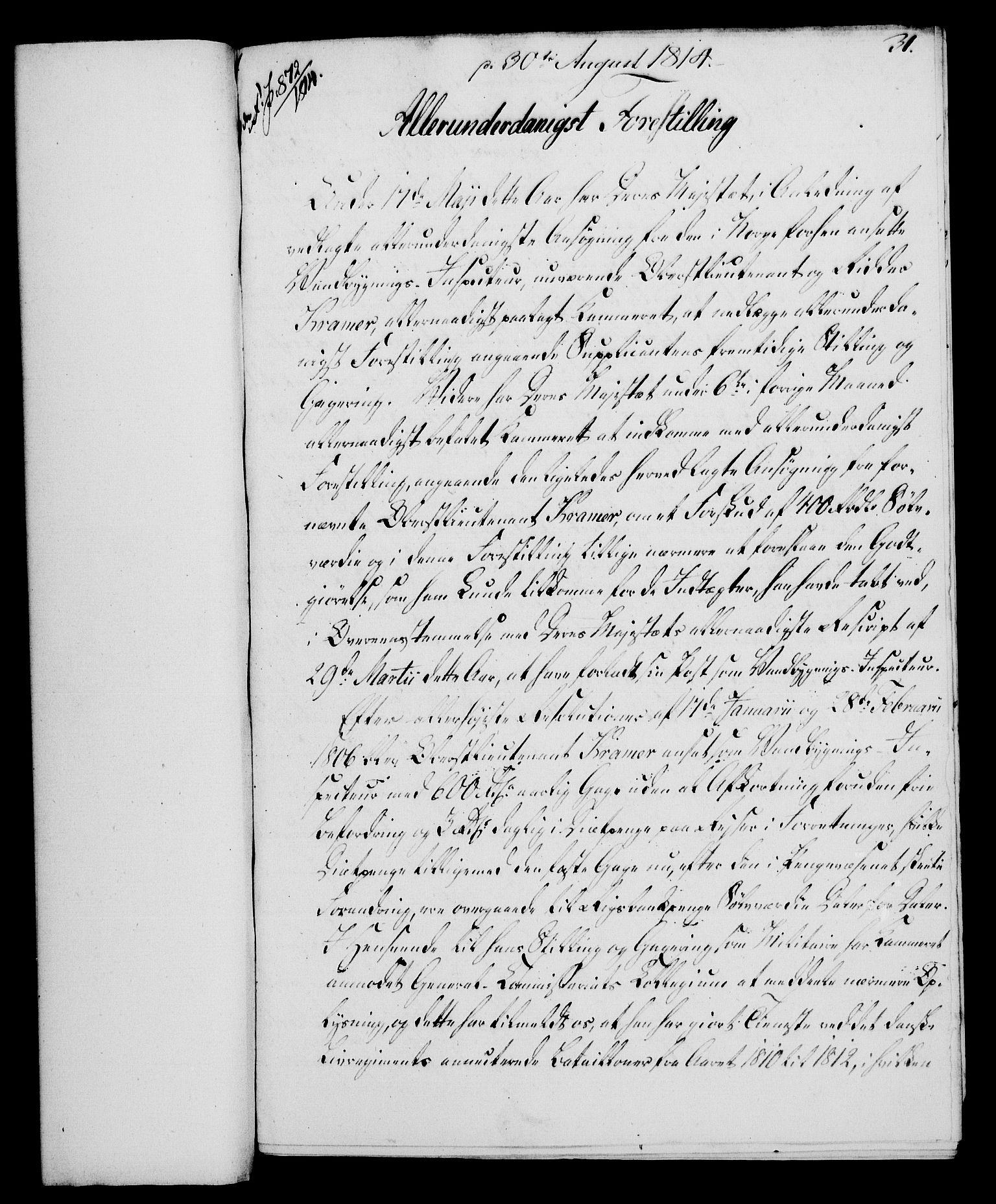 RA, Rentekammeret, Kammerkanselliet, G/Gf/Gfa/L0095: Norsk relasjons- og resolusjonsprotokoll (merket RK 52.95), 1813-1814, s. 654