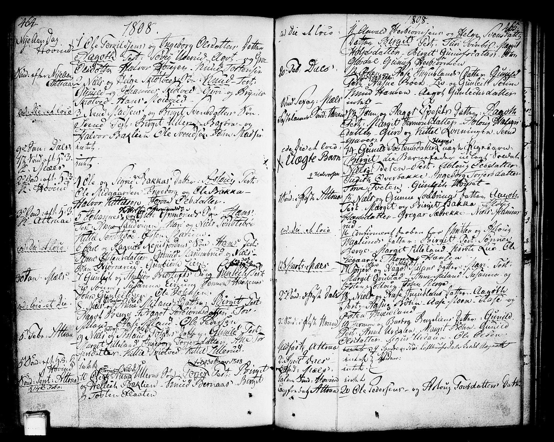 SAKO, Tinn kirkebøker, F/Fa/L0002: Ministerialbok nr. I 2, 1757-1810, s. 464-465