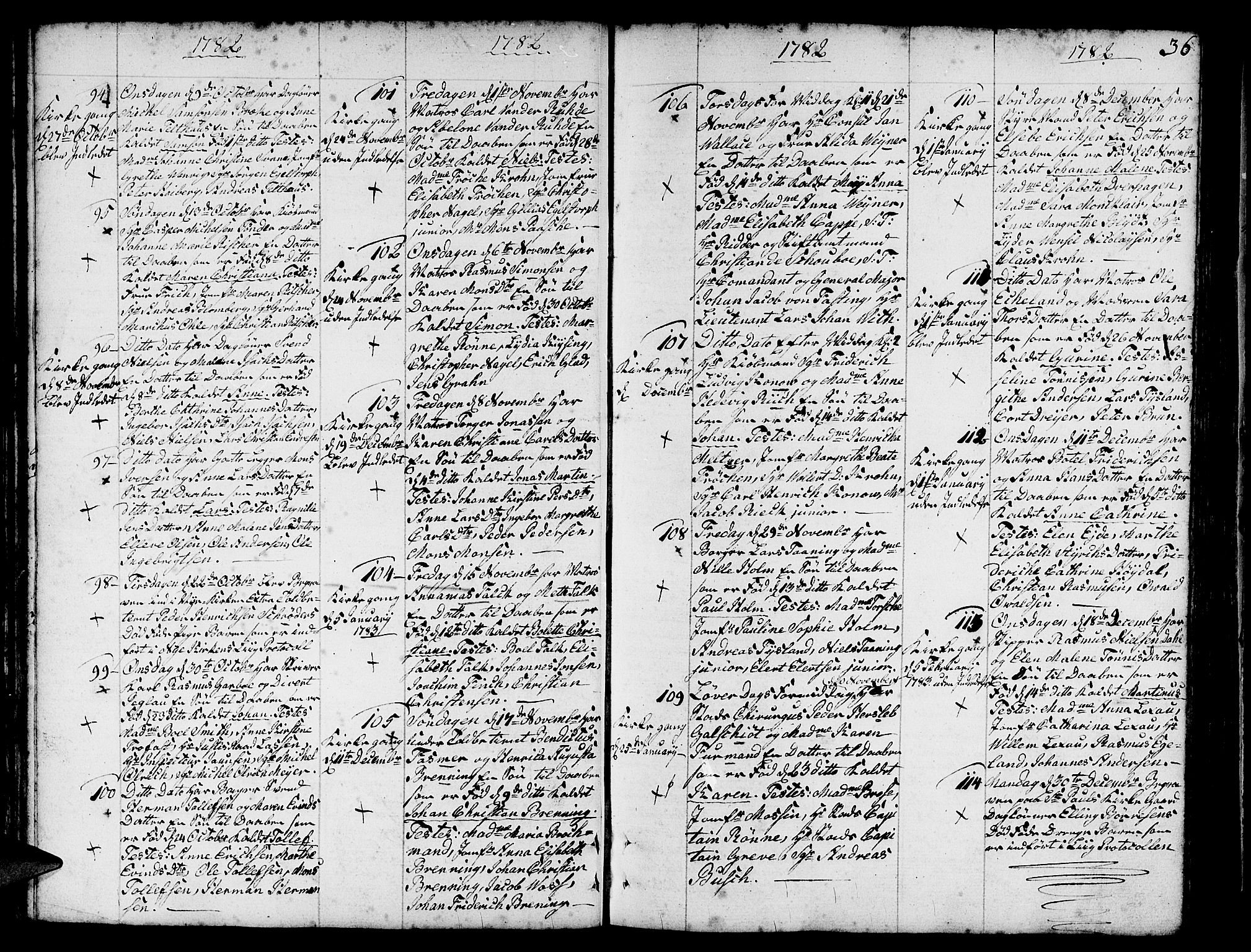 SAB, Nykirken Sokneprestembete, H/Haa: Ministerialbok nr. A 5, 1775-1808, s. 36