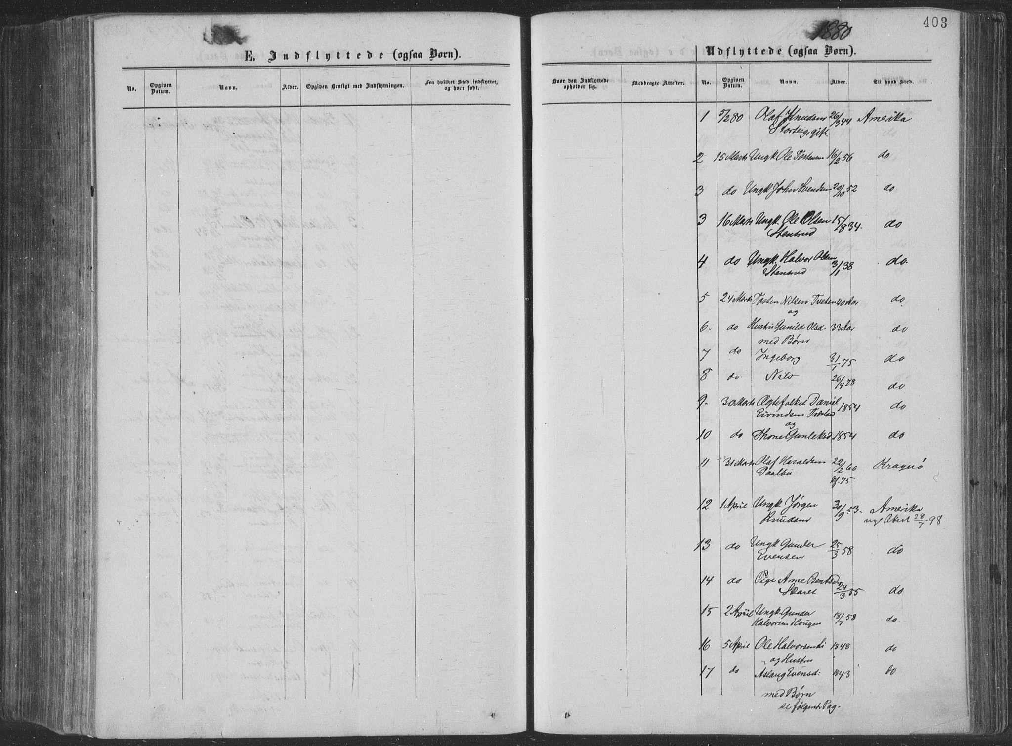 SAKO, Seljord kirkebøker, F/Fa/L0014: Ministerialbok nr. I 14, 1877-1886, s. 403