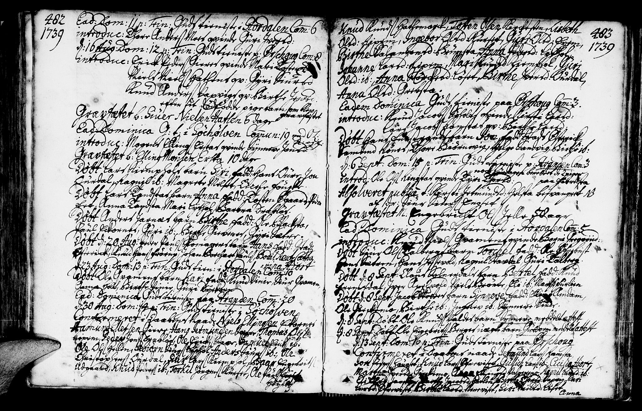 SAT, Ministerialprotokoller, klokkerbøker og fødselsregistre - Møre og Romsdal, 522/L0306: Ministerialbok nr. 522A01, 1720-1743, s. 482-483