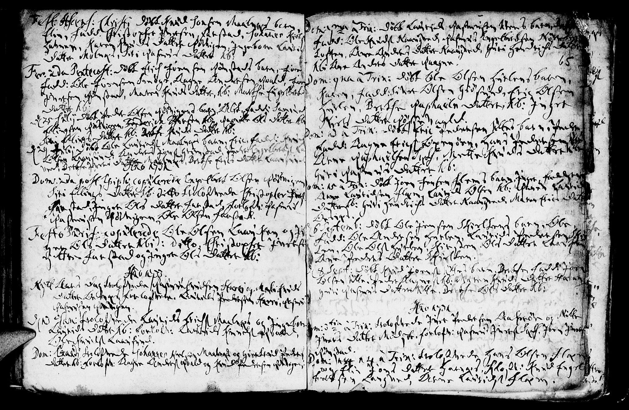 SAT, Ministerialprotokoller, klokkerbøker og fødselsregistre - Møre og Romsdal, 536/L0491: Ministerialbok nr. 536A01 /1, 1689-1737, s. 65