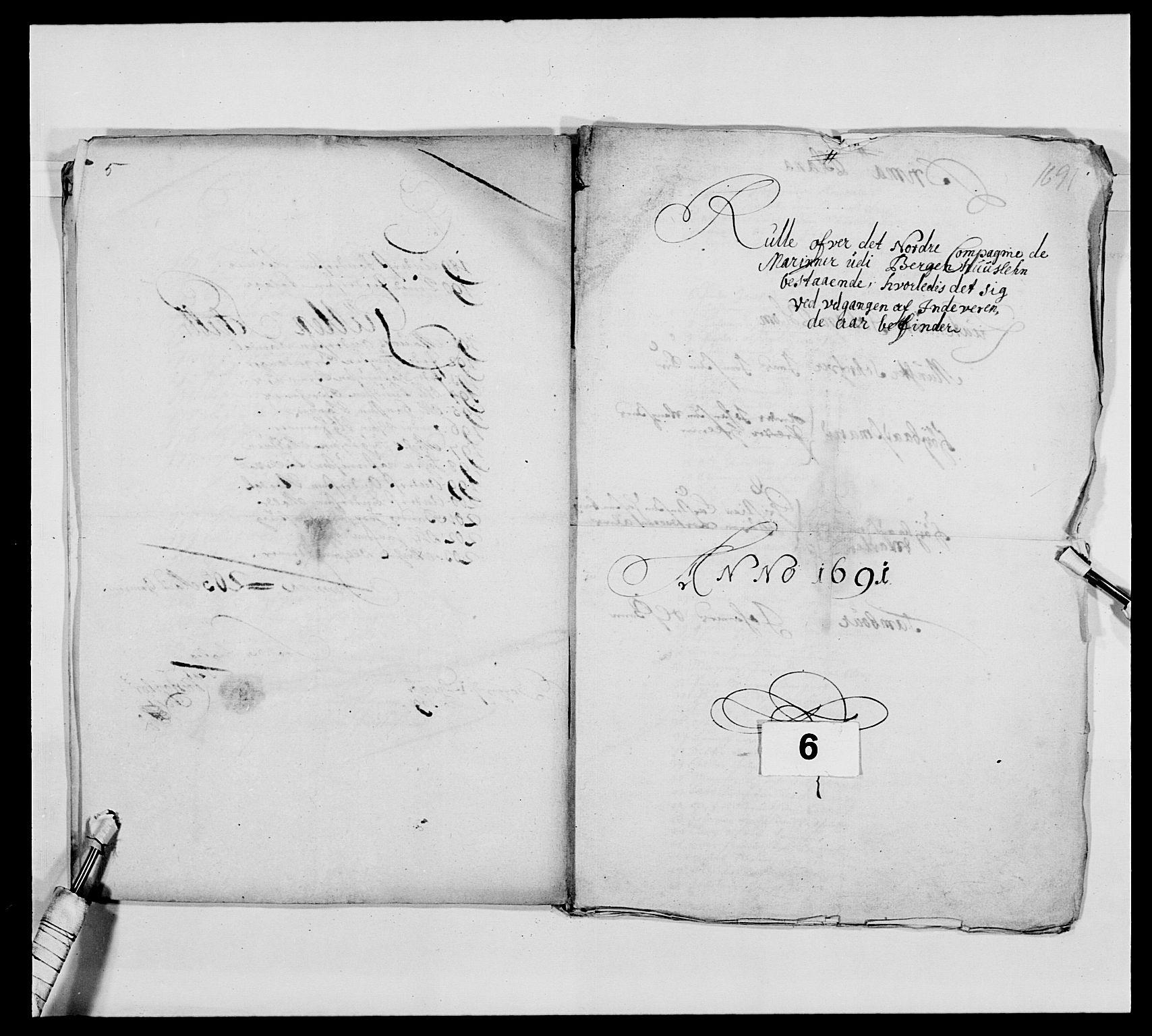 RA, Kommanderende general (KG I) med Det norske krigsdirektorium, E/Ea/L0473: Marineregimentet, 1664-1700, s. 150