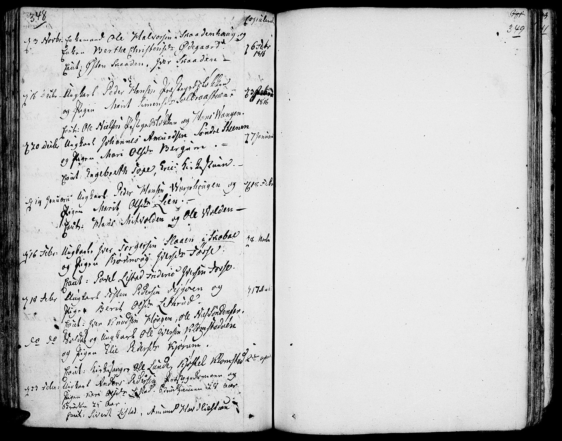 SAH, Fron prestekontor, H/Ha/Haa/L0001: Ministerialbok nr. 1, 1799-1816, s. 348-349