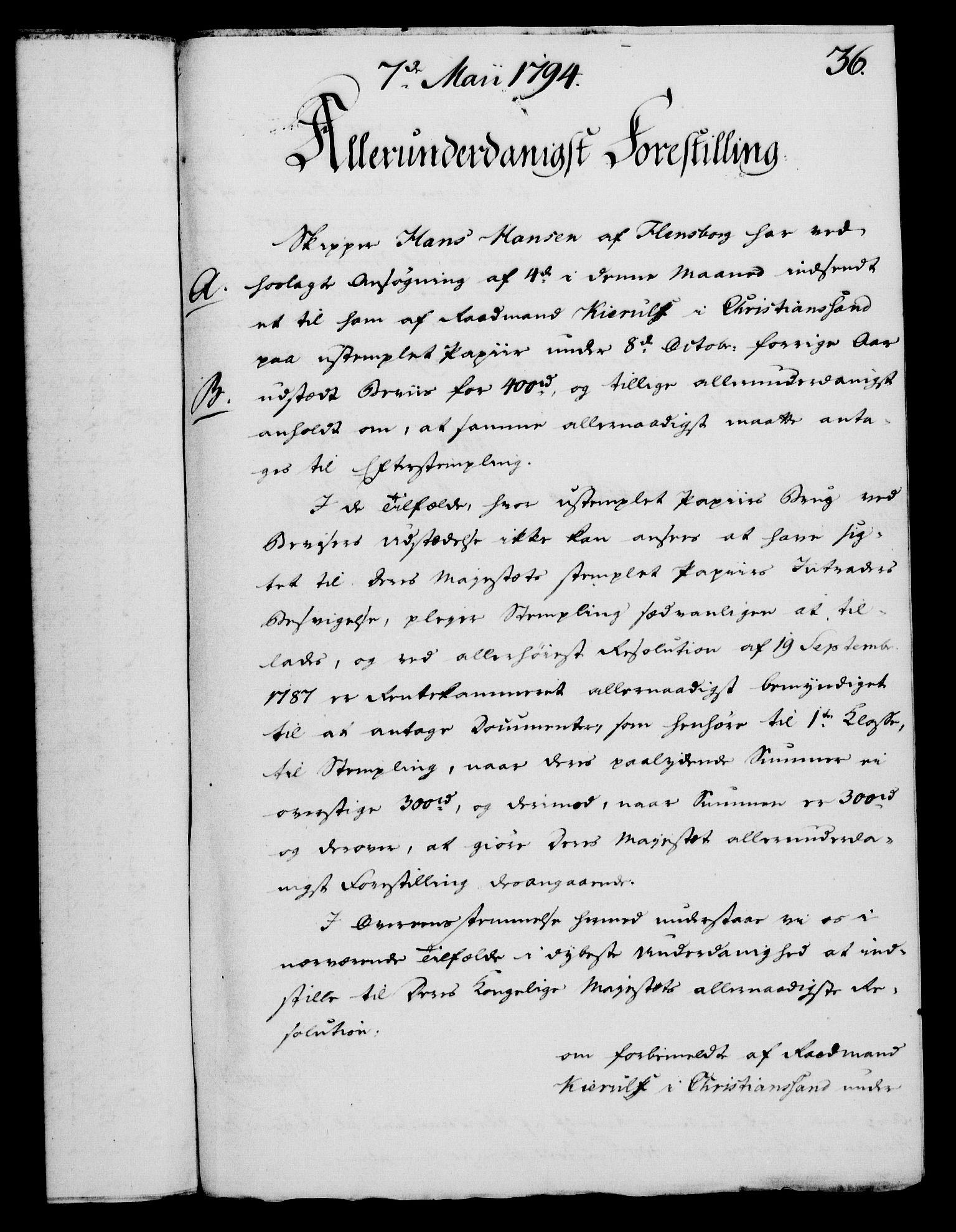 RA, Rentekammeret, Kammerkanselliet, G/Gf/Gfa/L0076: Norsk relasjons- og resolusjonsprotokoll (merket RK 52.76), 1794, s. 182