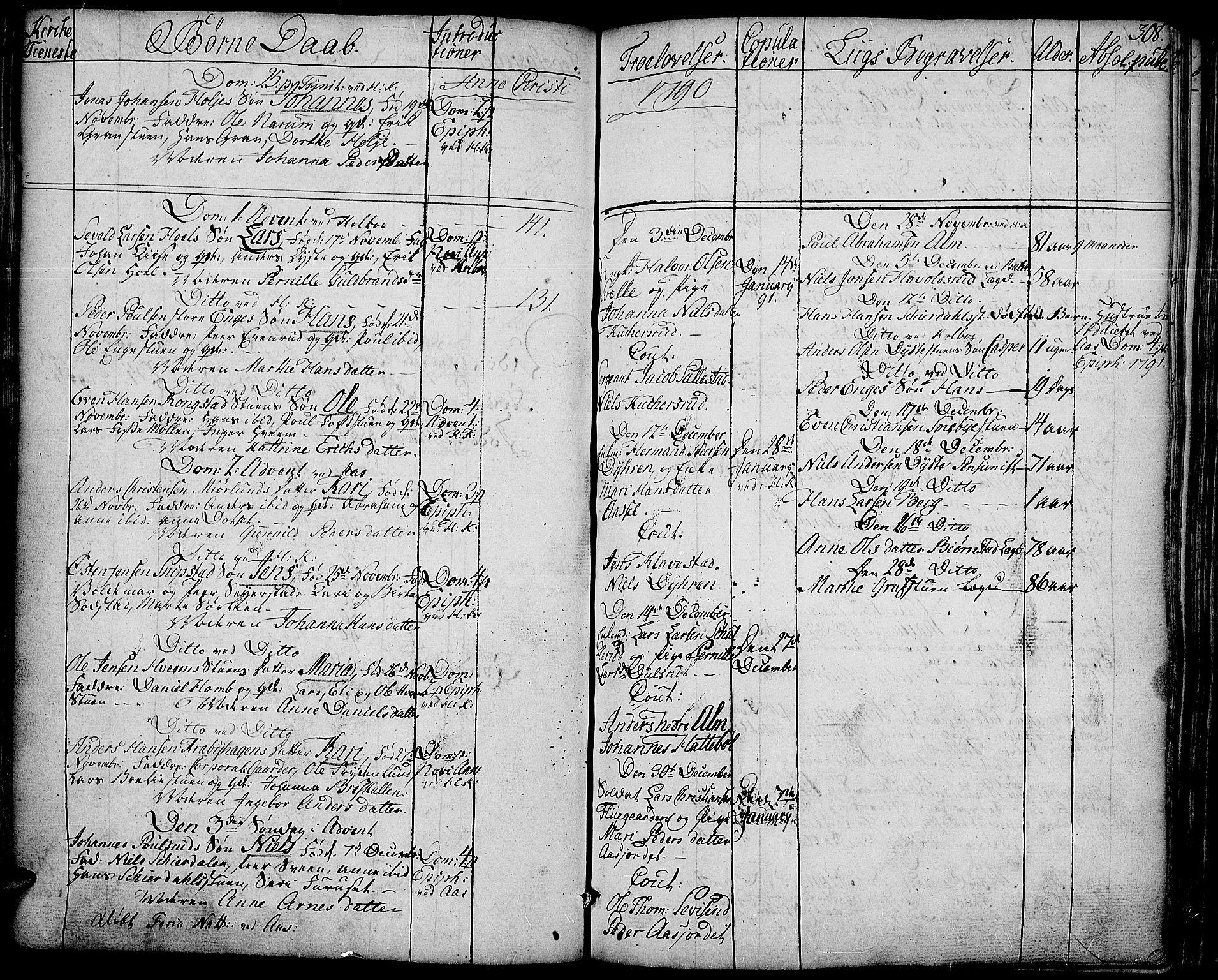 SAH, Toten prestekontor, Ministerialbok nr. 6, 1773-1793, s. 308