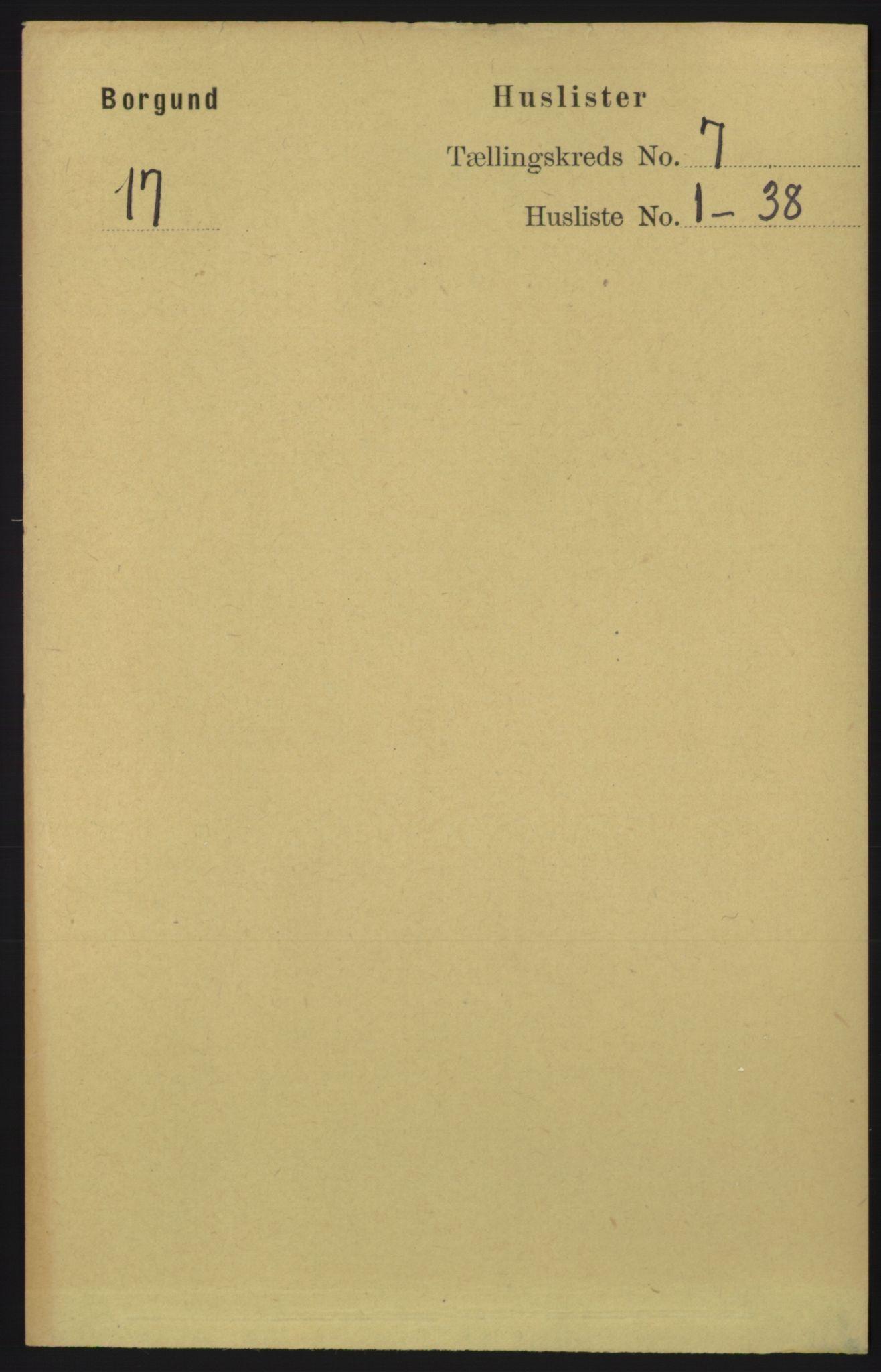 RA, Folketelling 1891 for 1531 Borgund herred, 1891, s. 1808
