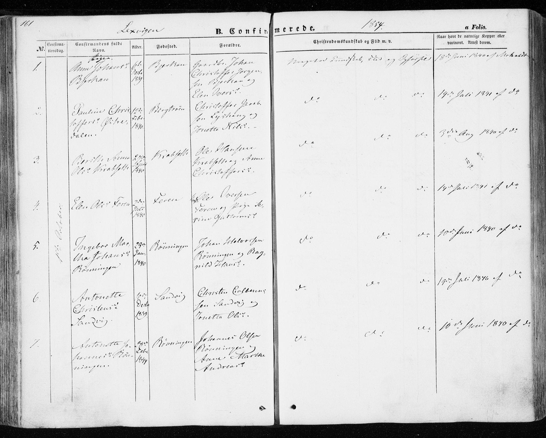SAT, Ministerialprotokoller, klokkerbøker og fødselsregistre - Nord-Trøndelag, 701/L0008: Ministerialbok nr. 701A08 /1, 1854-1863, s. 161