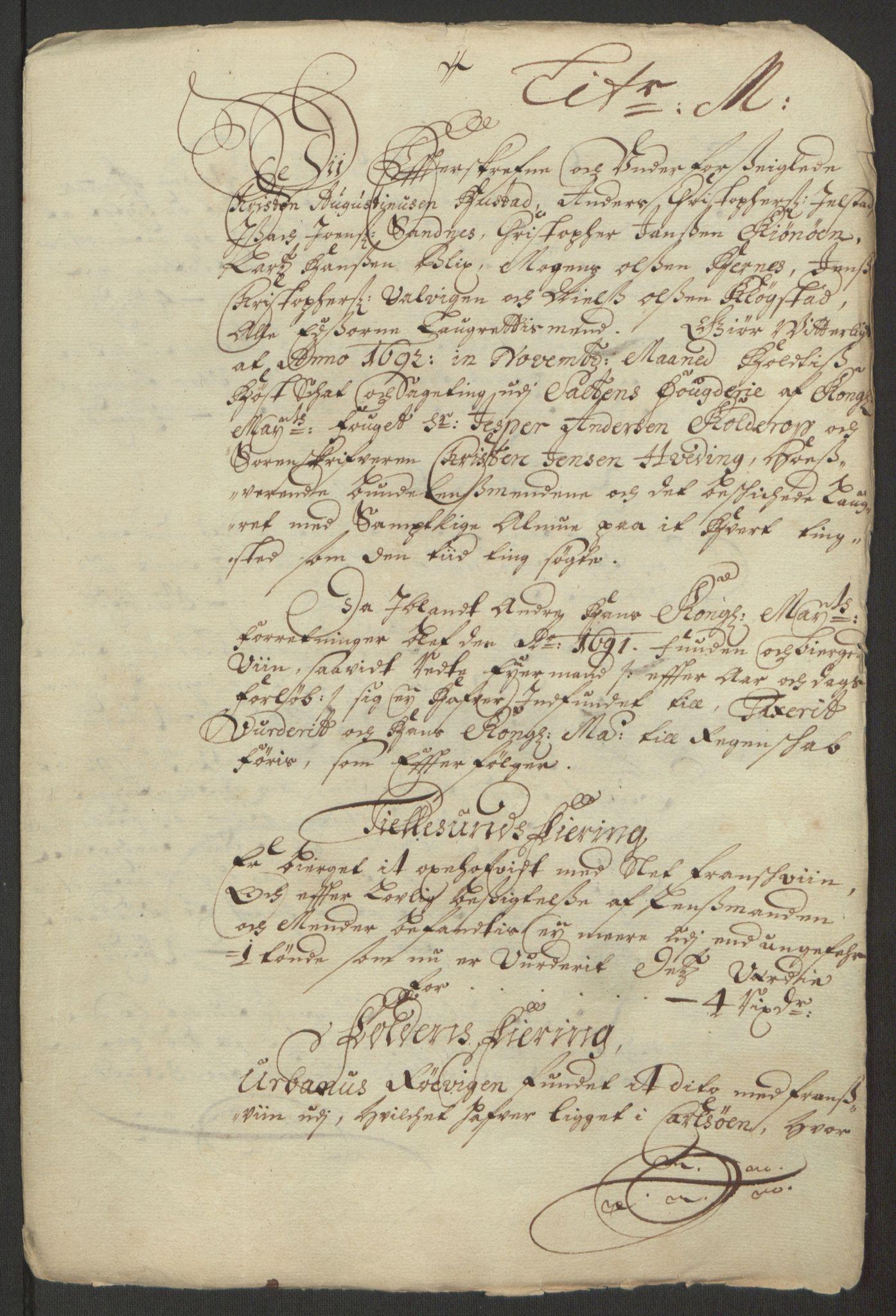RA, Rentekammeret inntil 1814, Reviderte regnskaper, Fogderegnskap, R66/L4577: Fogderegnskap Salten, 1691-1693, s. 235