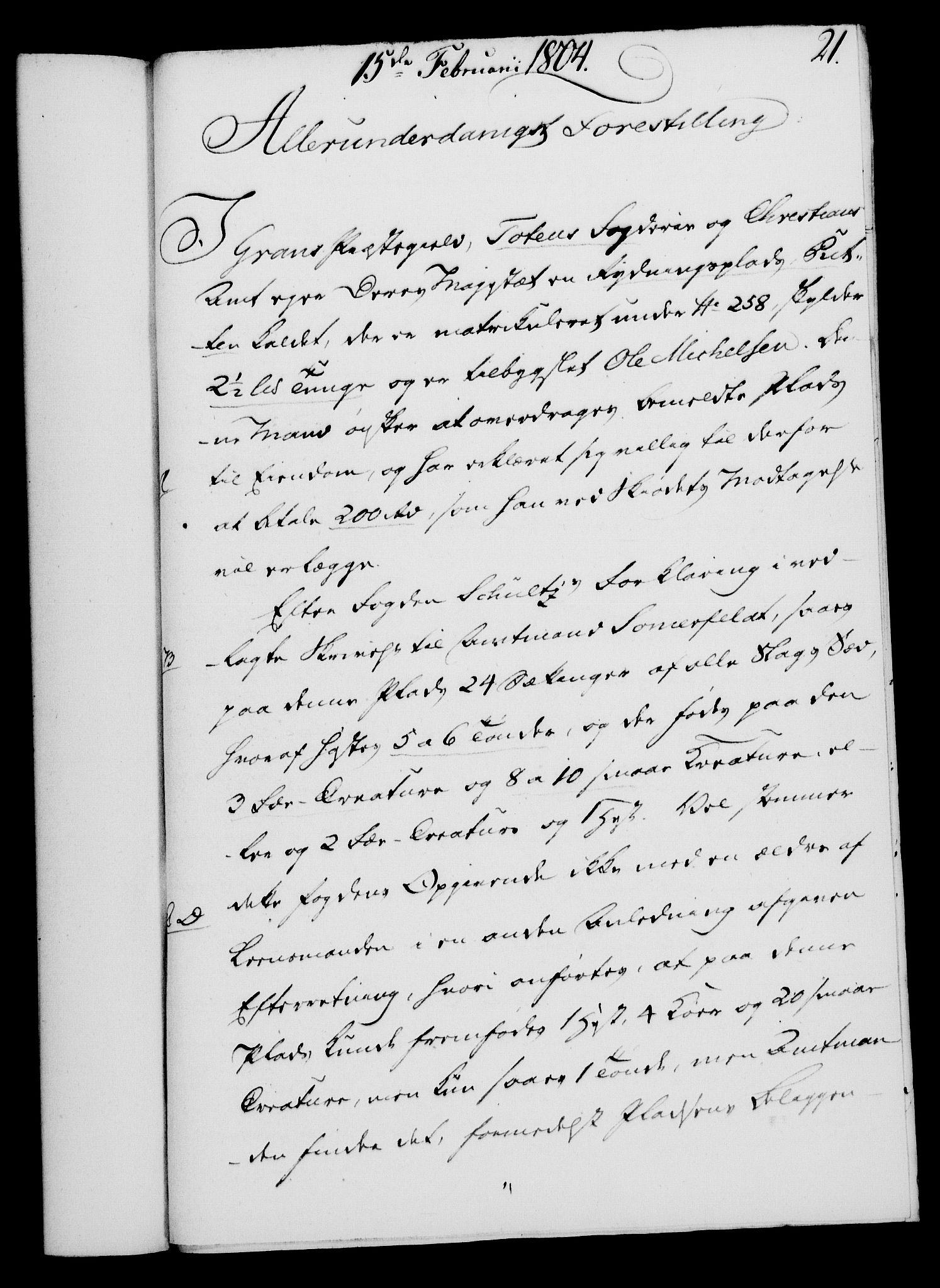 RA, Rentekammeret, Kammerkanselliet, G/Gf/Gfa/L0086: Norsk relasjons- og resolusjonsprotokoll (merket RK 52.86), 1804, s. 163