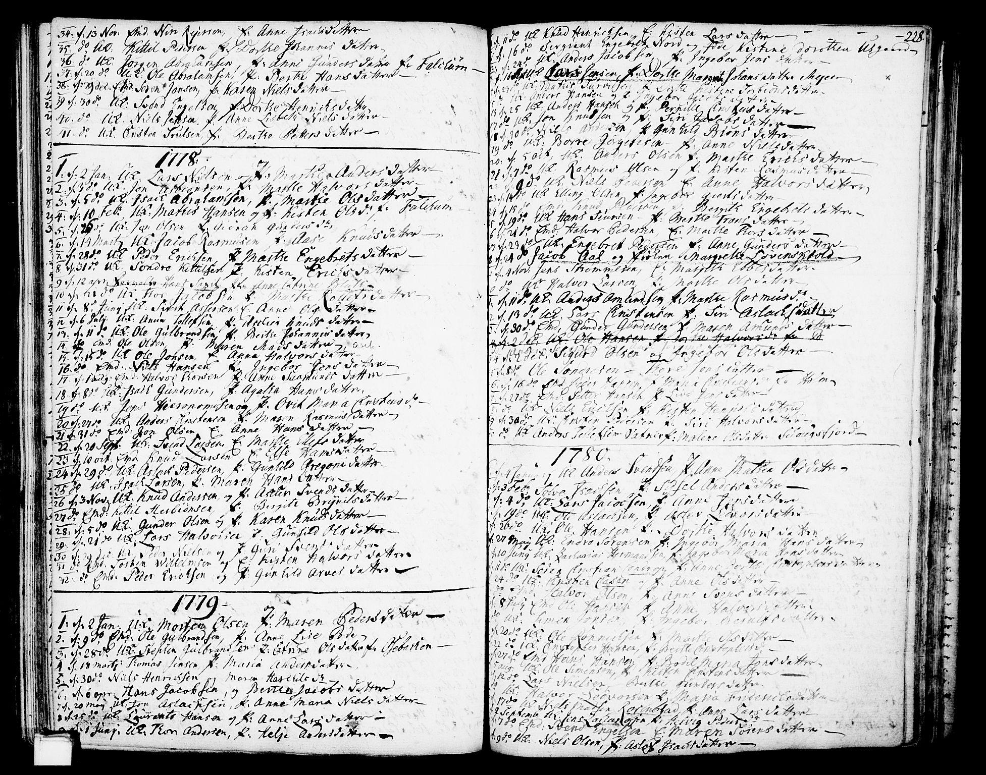 SAKO, Gjerpen kirkebøker, F/Fa/L0002: Ministerialbok nr. 2, 1747-1795, s. 228