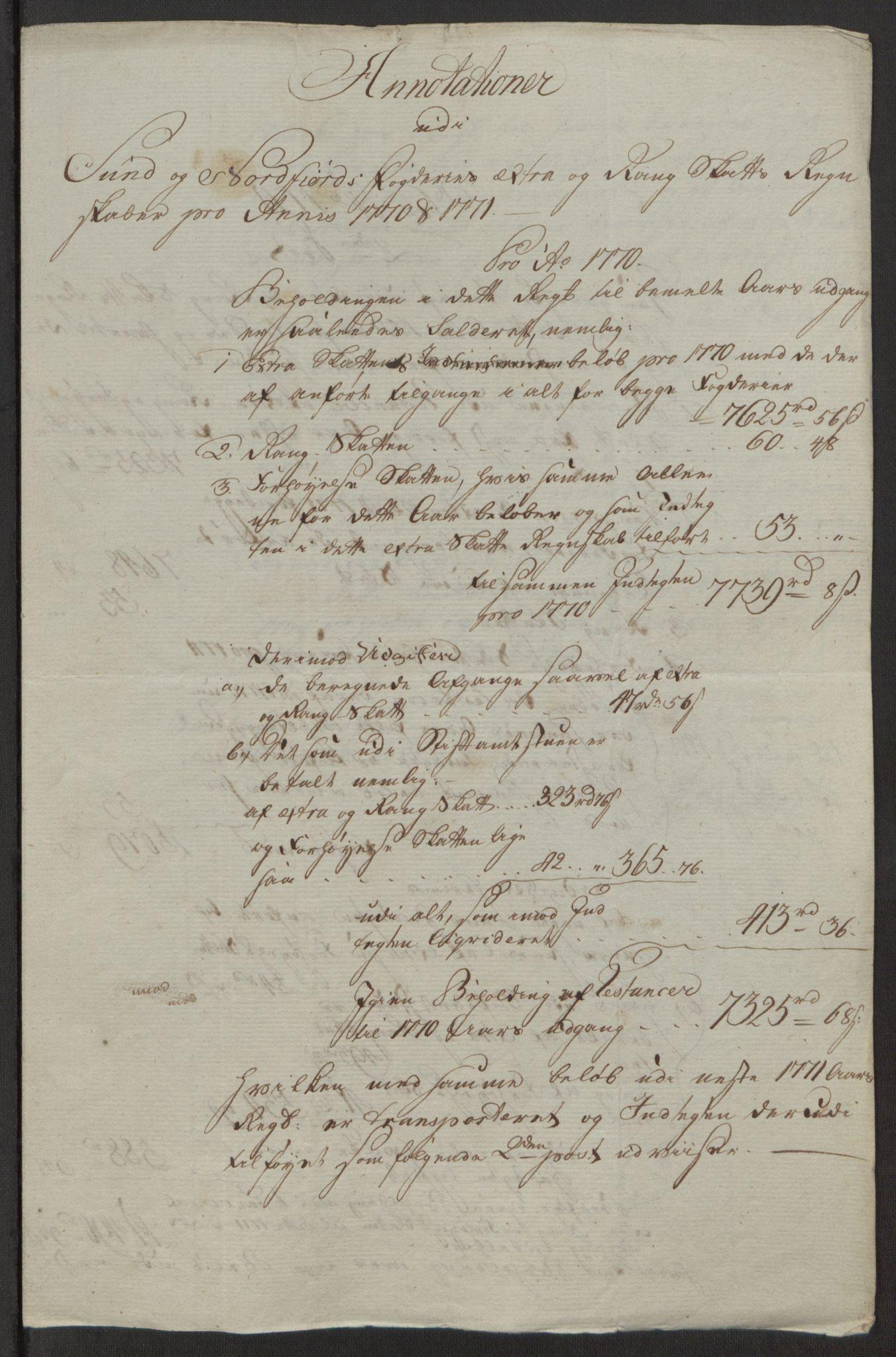 RA, Rentekammeret inntil 1814, Reviderte regnskaper, Fogderegnskap, R53/L3551: Ekstraskatten Sunn- og Nordfjord, 1772, s. 36