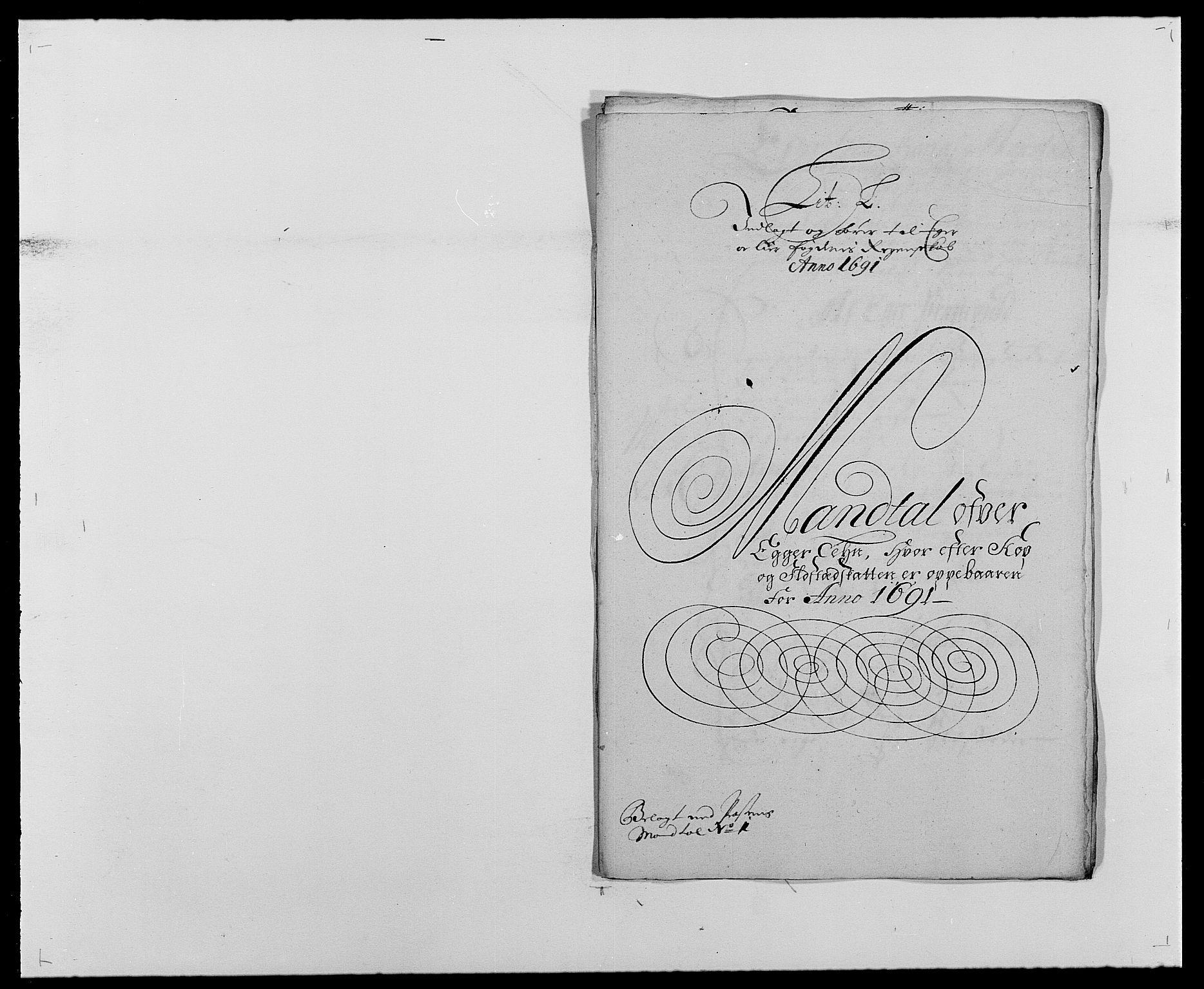 RA, Rentekammeret inntil 1814, Reviderte regnskaper, Fogderegnskap, R28/L1689: Fogderegnskap Eiker og Lier, 1690-1691, s. 305