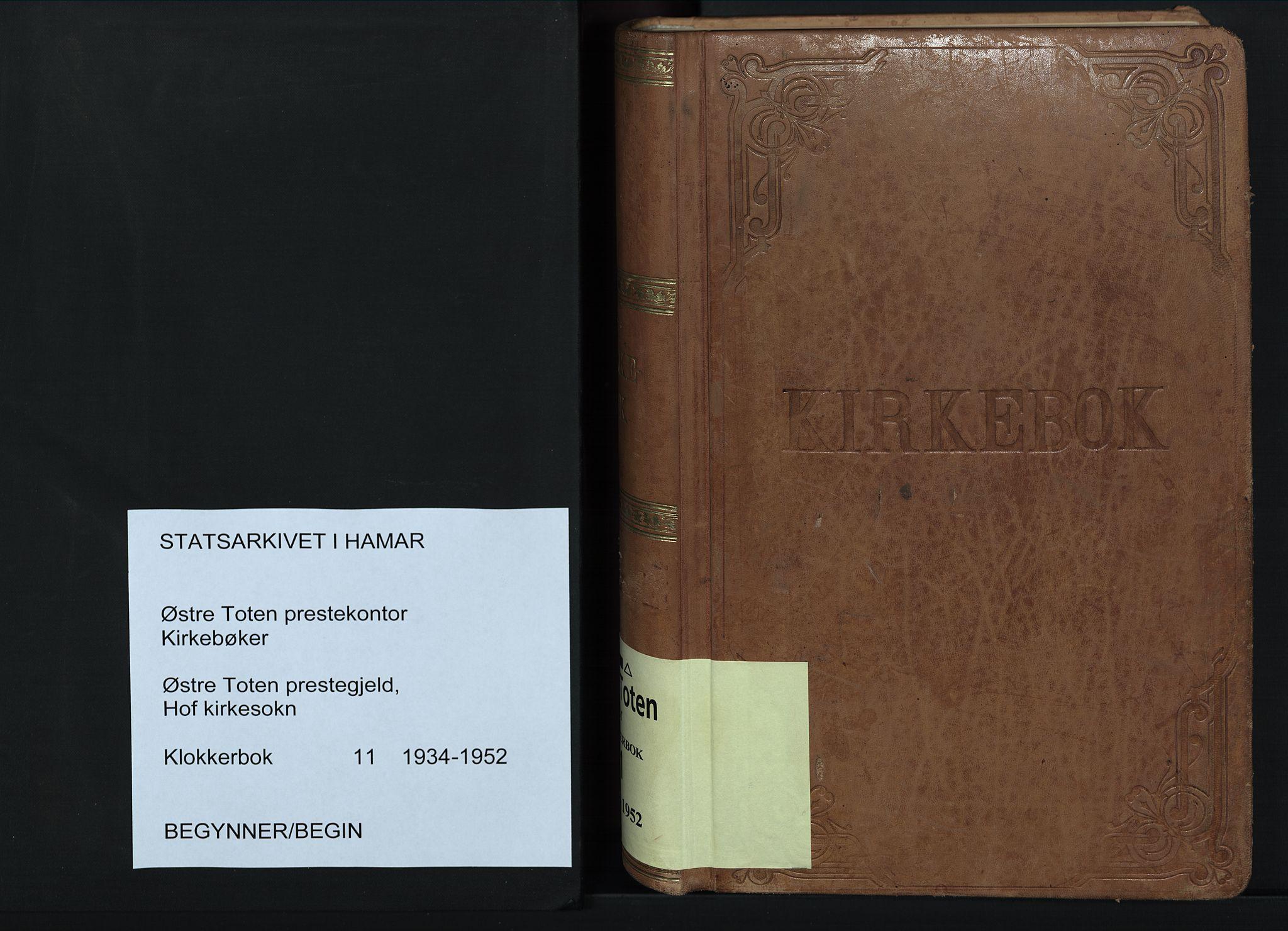 SAH, Østre Toten prestekontor, Klokkerbok nr. 11, 1934-1952