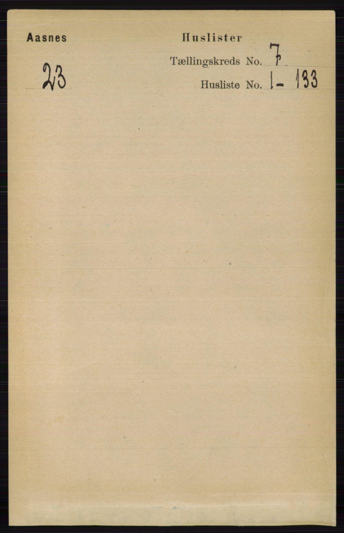 RA, Folketelling 1891 for 0425 Åsnes herred, 1891, s. 3235
