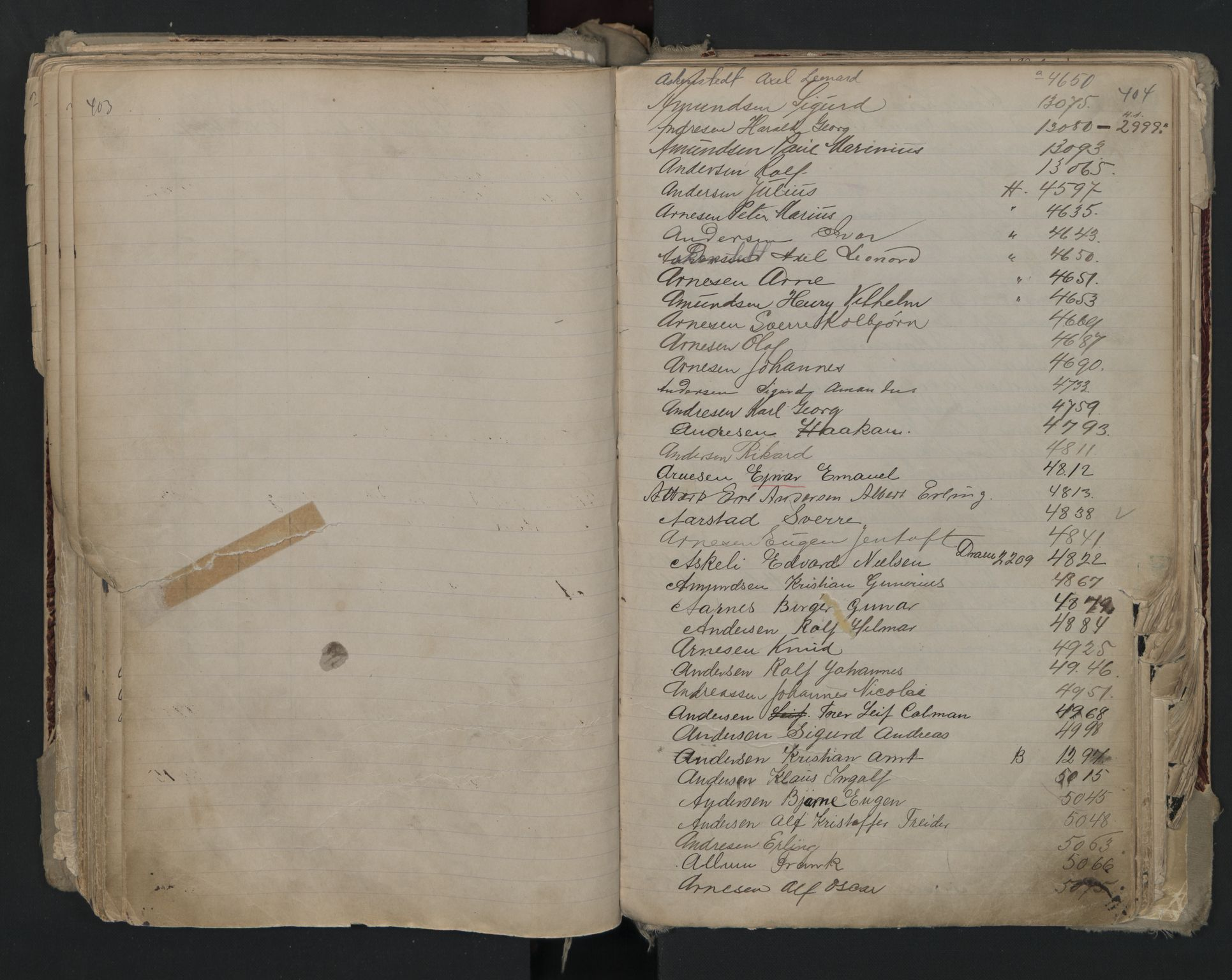 SAO, Oslo sjømannskontor, F/Fa/L0002: Register for Kristiania krets, 1866-1930, s. 403-404