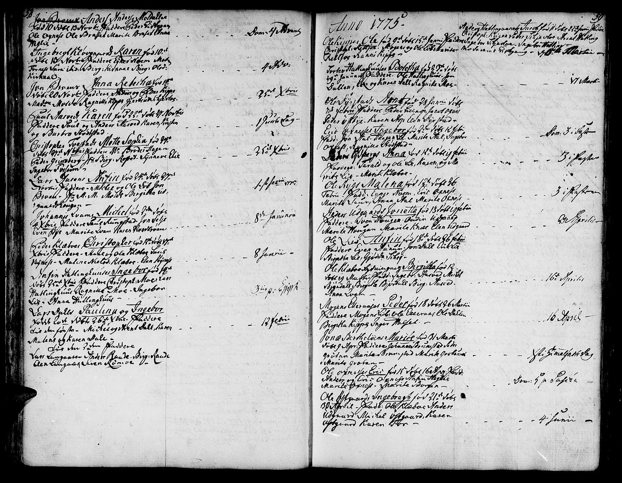 SAT, Ministerialprotokoller, klokkerbøker og fødselsregistre - Nord-Trøndelag, 746/L0440: Ministerialbok nr. 746A02, 1760-1815, s. 58-59