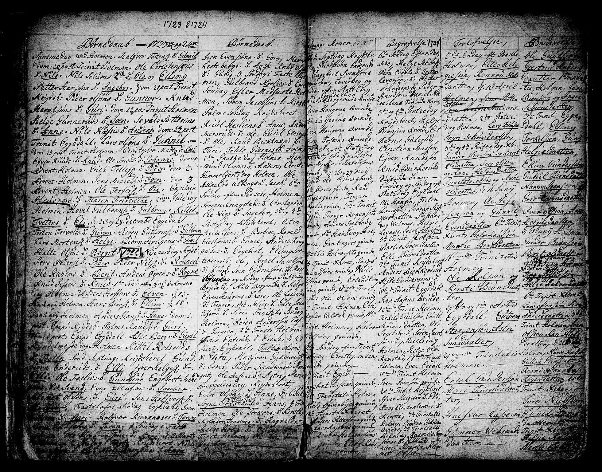 SAKO, Sigdal kirkebøker, F/Fa/L0001: Ministerialbok nr. I 1, 1722-1777, s. 8