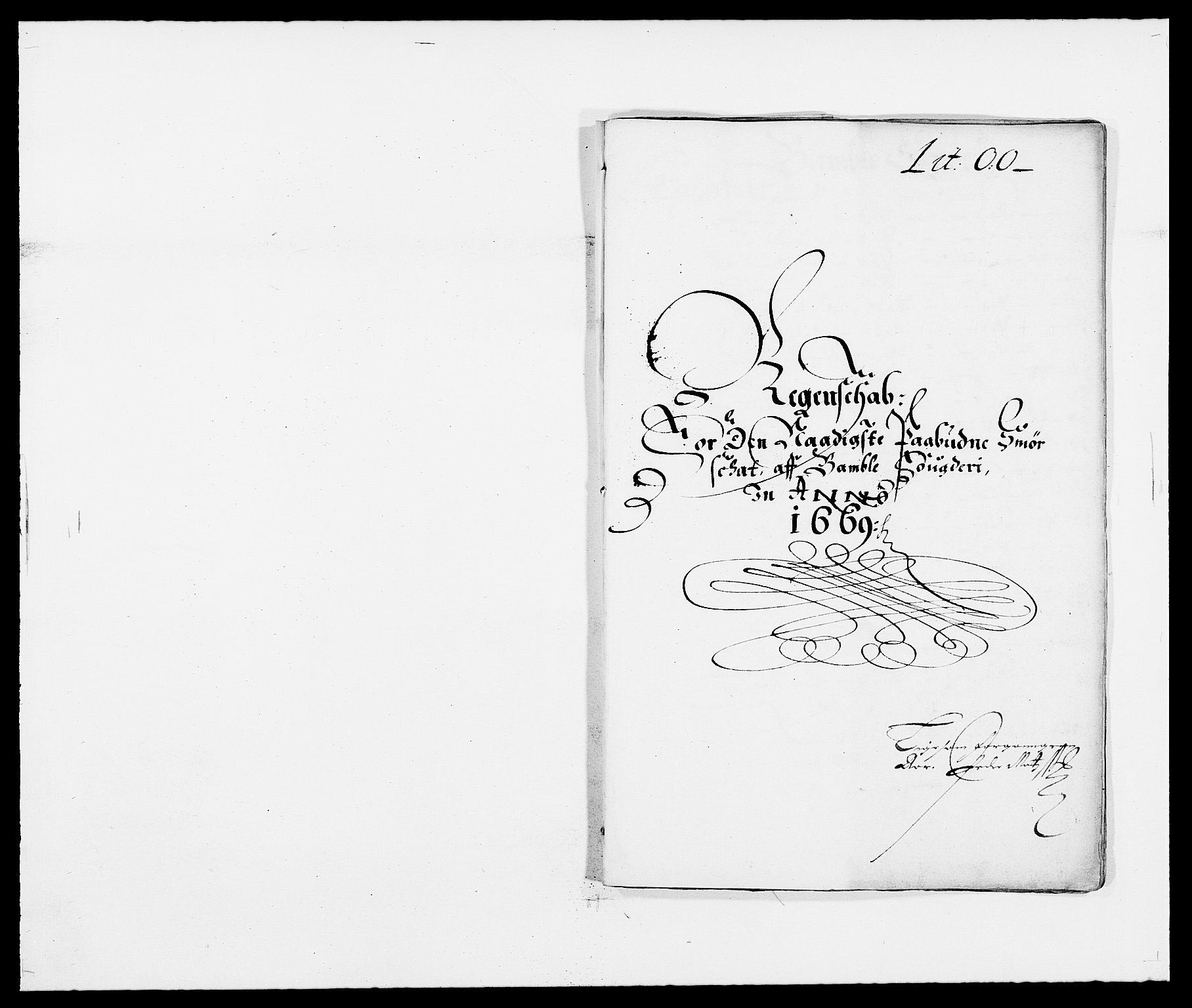RA, Rentekammeret inntil 1814, Reviderte regnskaper, Fogderegnskap, R34/L2040: Fogderegnskap Bamble, 1662-1669, s. 184