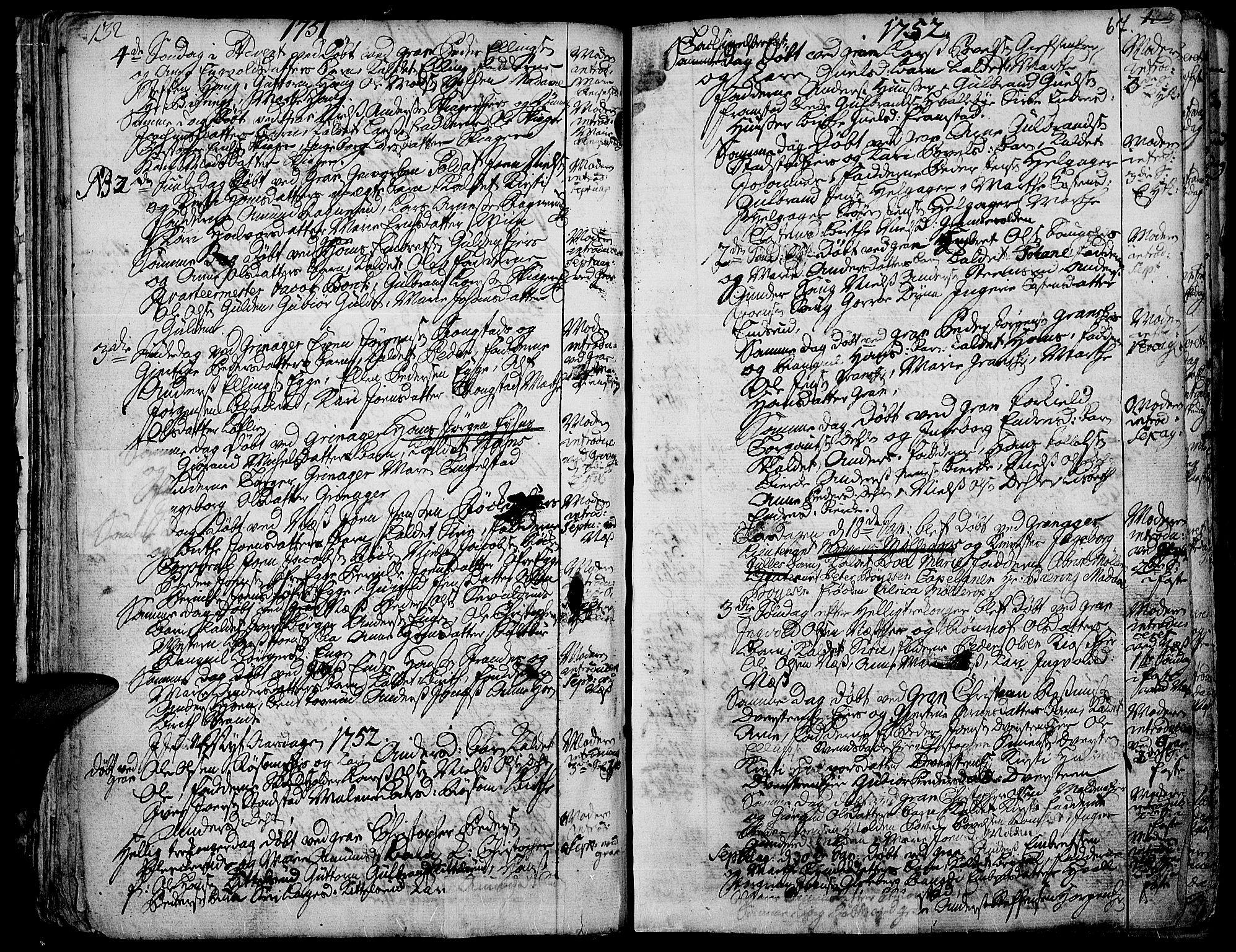 SAH, Gran prestekontor, Ministerialbok nr. 3, 1745-1758, s. 67