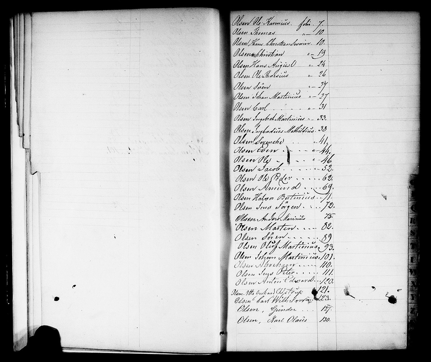 SAKO, Porsgrunn innrulleringskontor, F/Fb/L0001: Annotasjonsrulle, 1860-1868, s. 16
