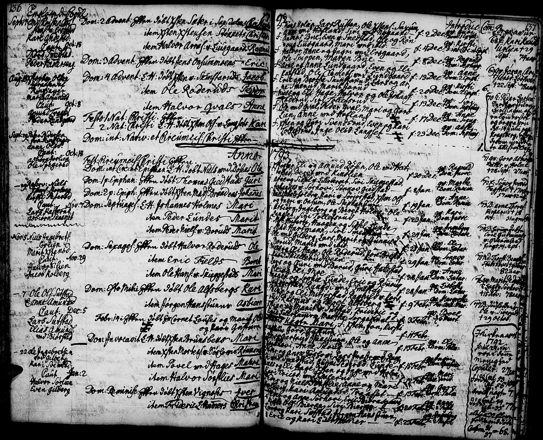 SAH, Fåberg prestekontor, Ministerialbok nr. 2, 1775-1818, s. 136-137