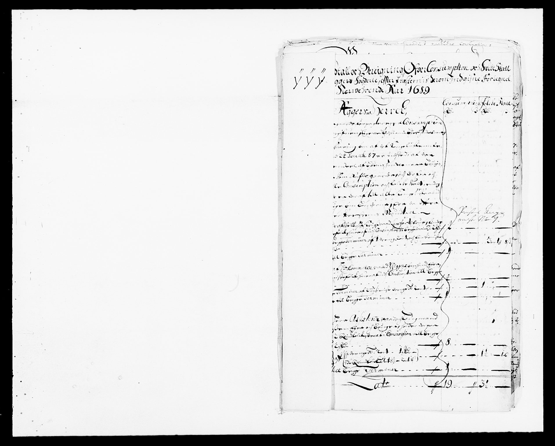 RA, Rentekammeret inntil 1814, Reviderte regnskaper, Fogderegnskap, R08/L0423: Fogderegnskap Aker, 1687-1689, s. 100