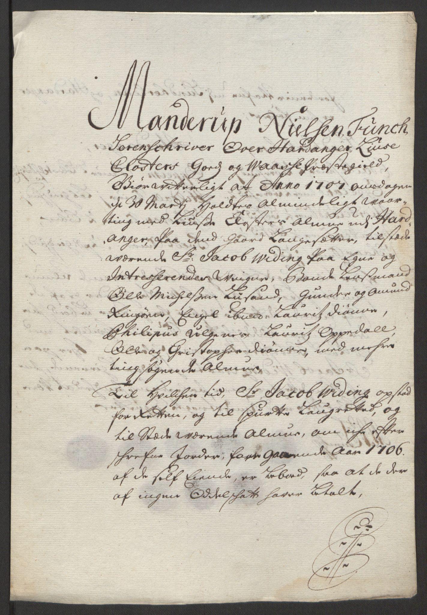 RA, Rentekammeret inntil 1814, Reviderte regnskaper, Fogderegnskap, R50/L3159: Fogderegnskap Lyse kloster, 1691-1709, s. 259