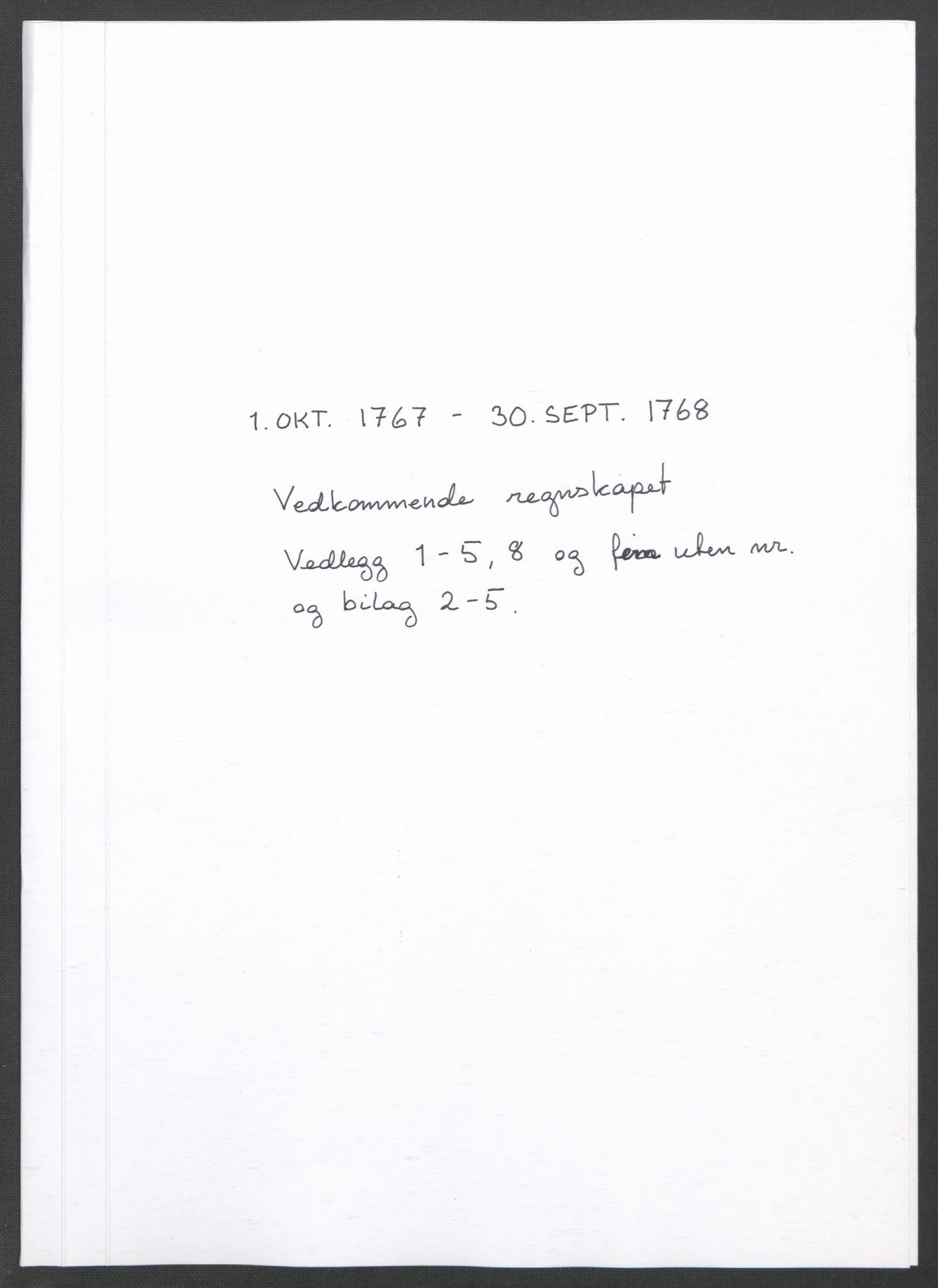 RA, Rentekammeret inntil 1814, Reviderte regnskaper, Fogderegnskap, R45/L2704: Ekstraskatten Lista og Mandal, 1762-1768, s. 458