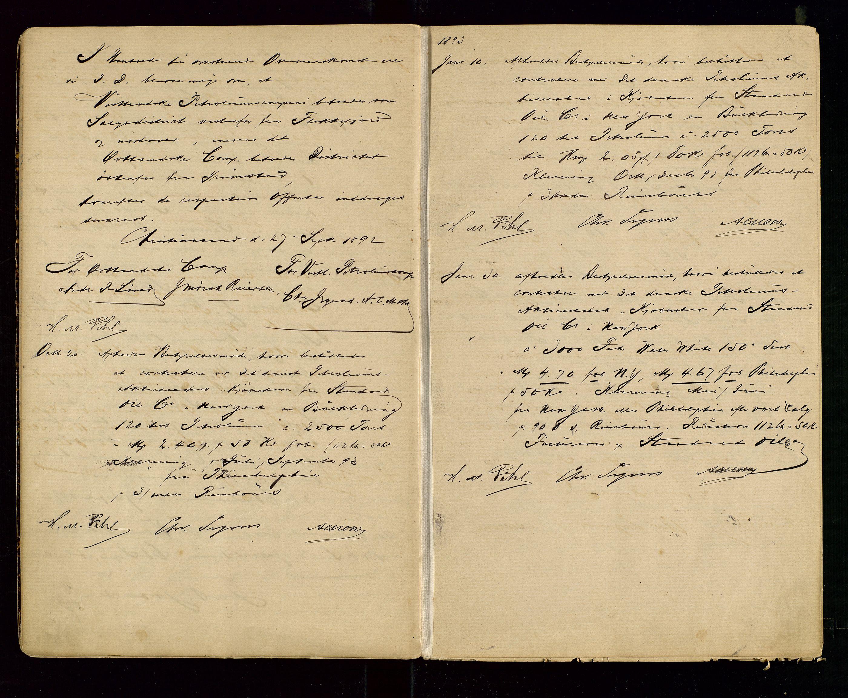SAST, PA 1533 - A/S Vestlandske Petroleumscompani, A/Aa/L0001: Generalforsamlinger og styreprotokoller, 1890-1907, s. 10
