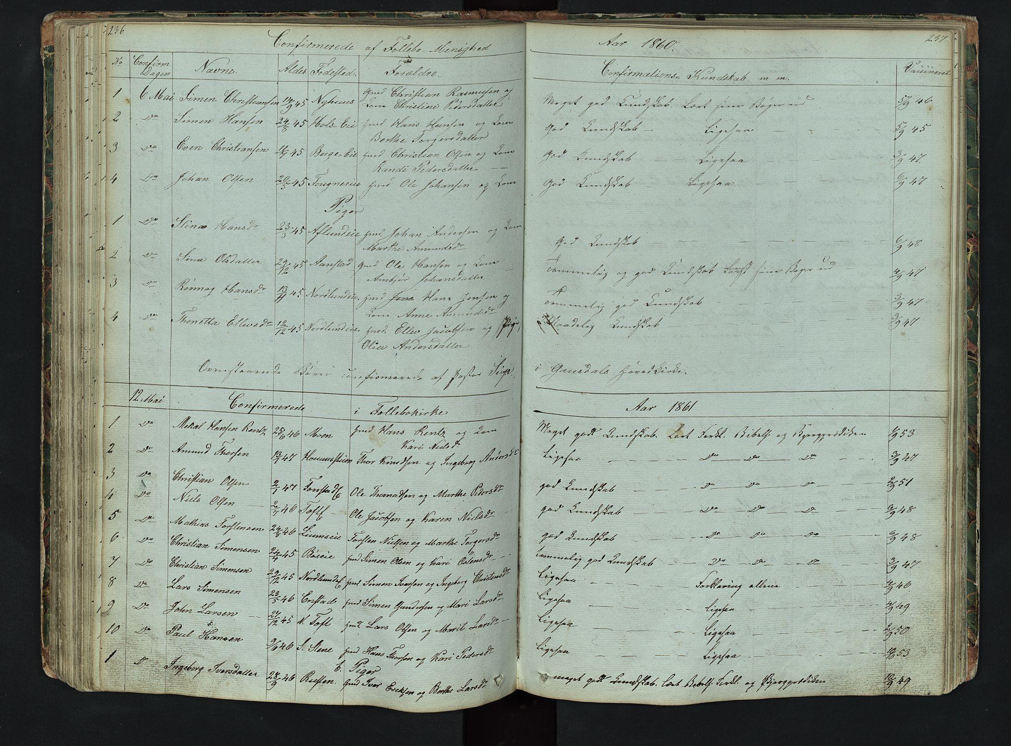 SAH, Gausdal prestekontor, Klokkerbok nr. 6, 1846-1893, s. 236-237