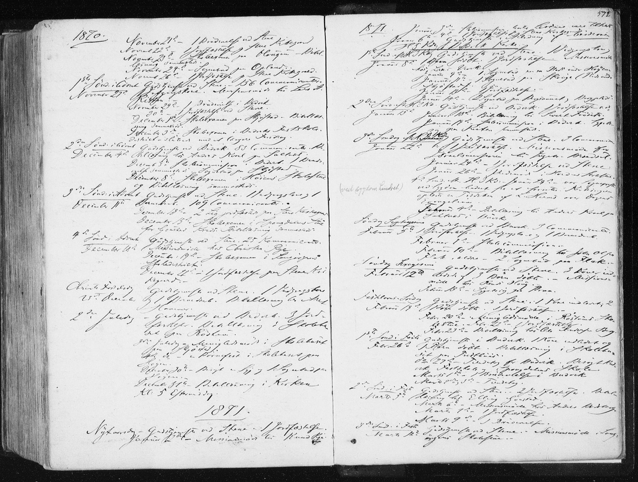 SAT, Ministerialprotokoller, klokkerbøker og fødselsregistre - Sør-Trøndelag, 612/L0377: Ministerialbok nr. 612A09, 1859-1877, s. 572