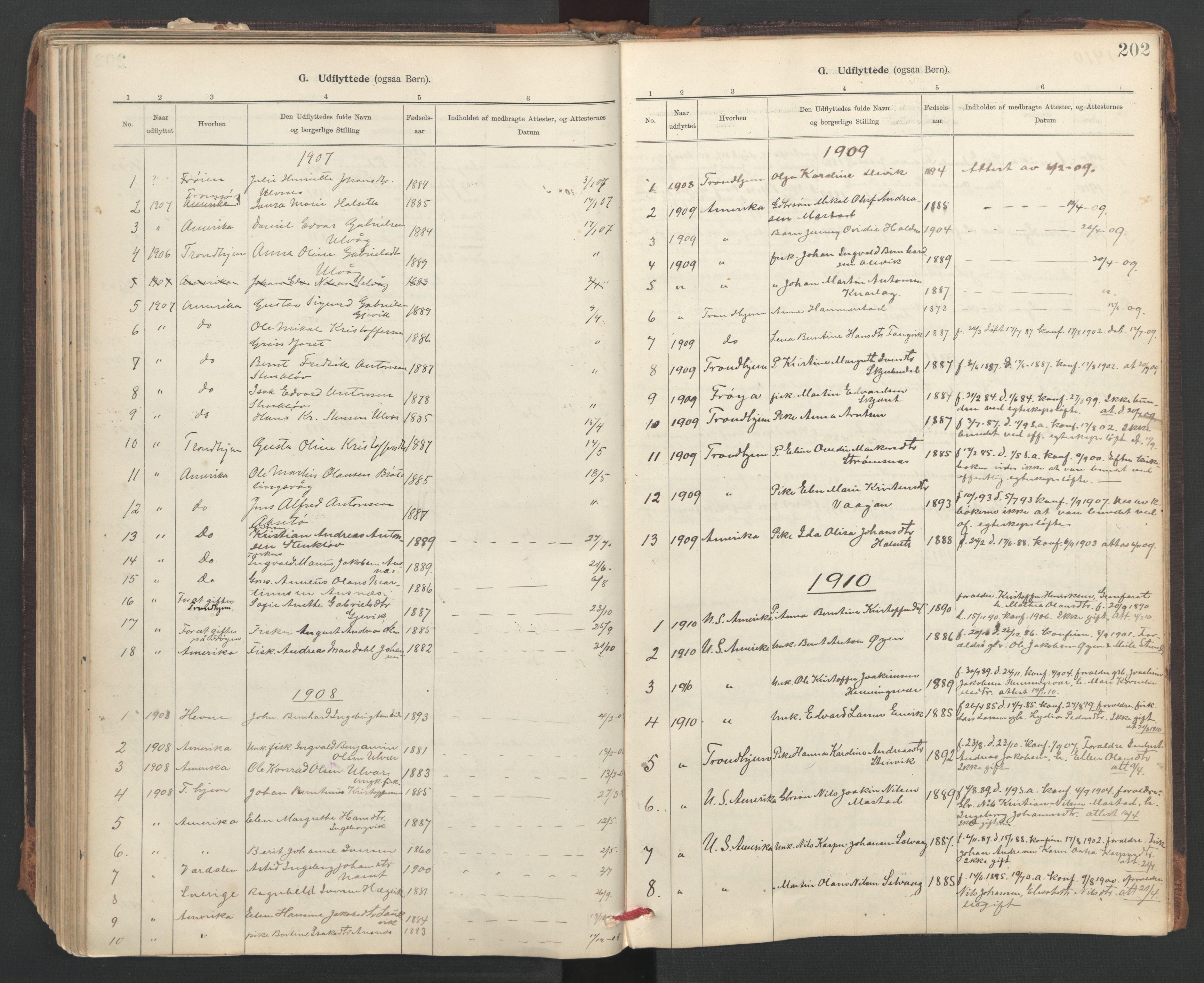 SAT, Ministerialprotokoller, klokkerbøker og fødselsregistre - Sør-Trøndelag, 637/L0559: Ministerialbok nr. 637A02, 1899-1923, s. 202