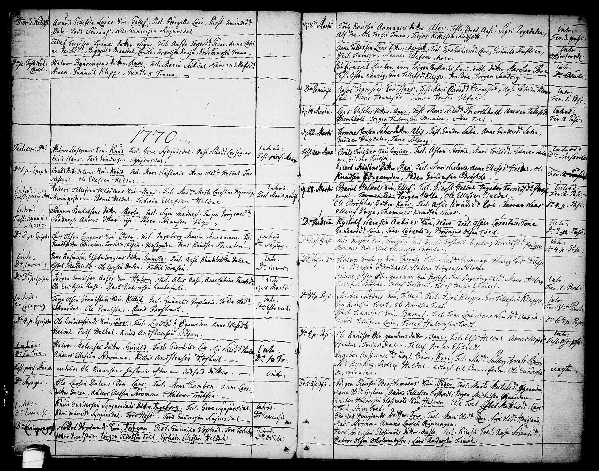 SAKO, Drangedal kirkebøker, F/Fa/L0003: Ministerialbok nr. 3, 1768-1814, s. 8-9