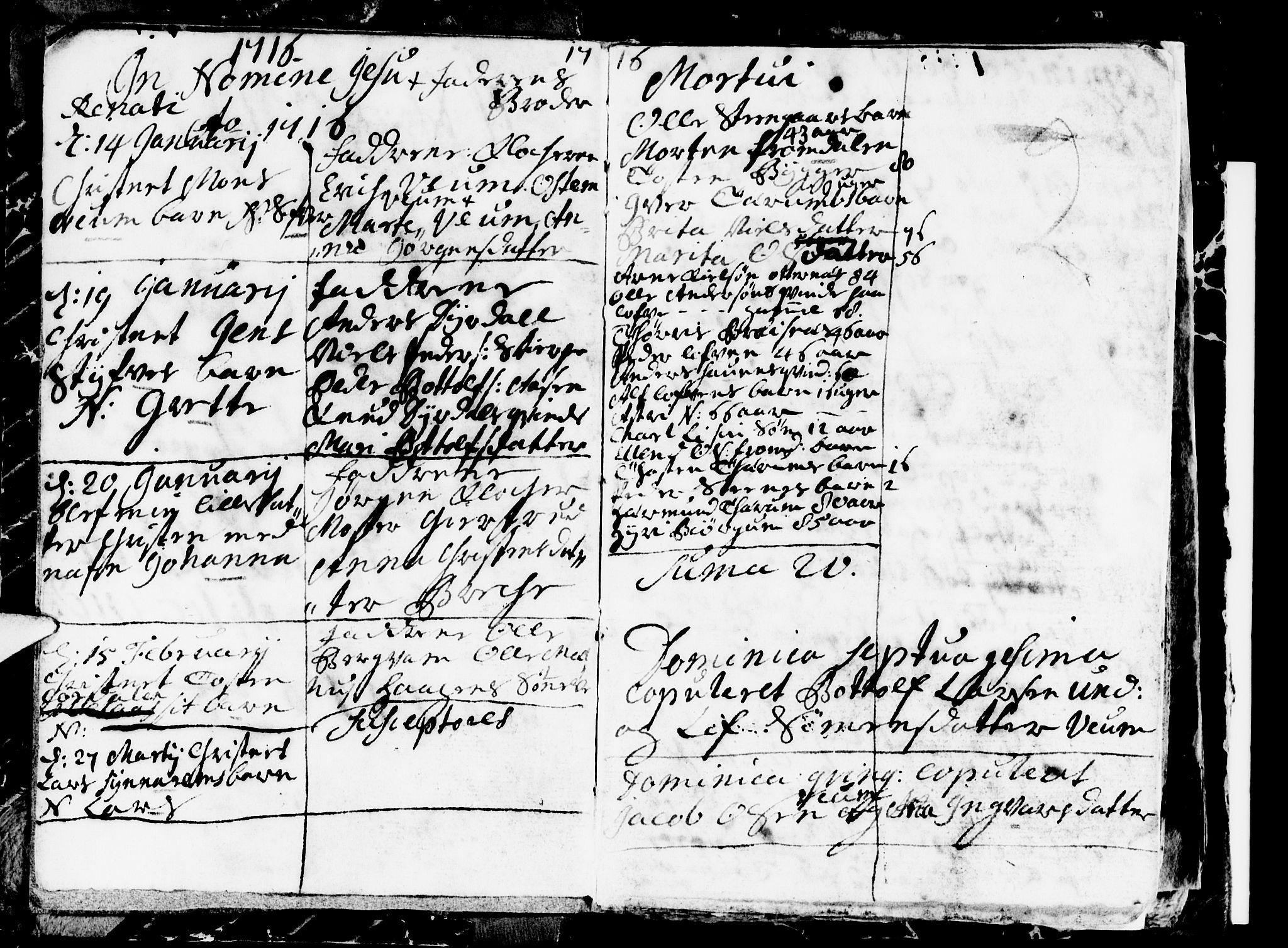 SAB, Aurland Sokneprestembete*, Ministerialbok nr. A 1, 1716-1734, s. 2