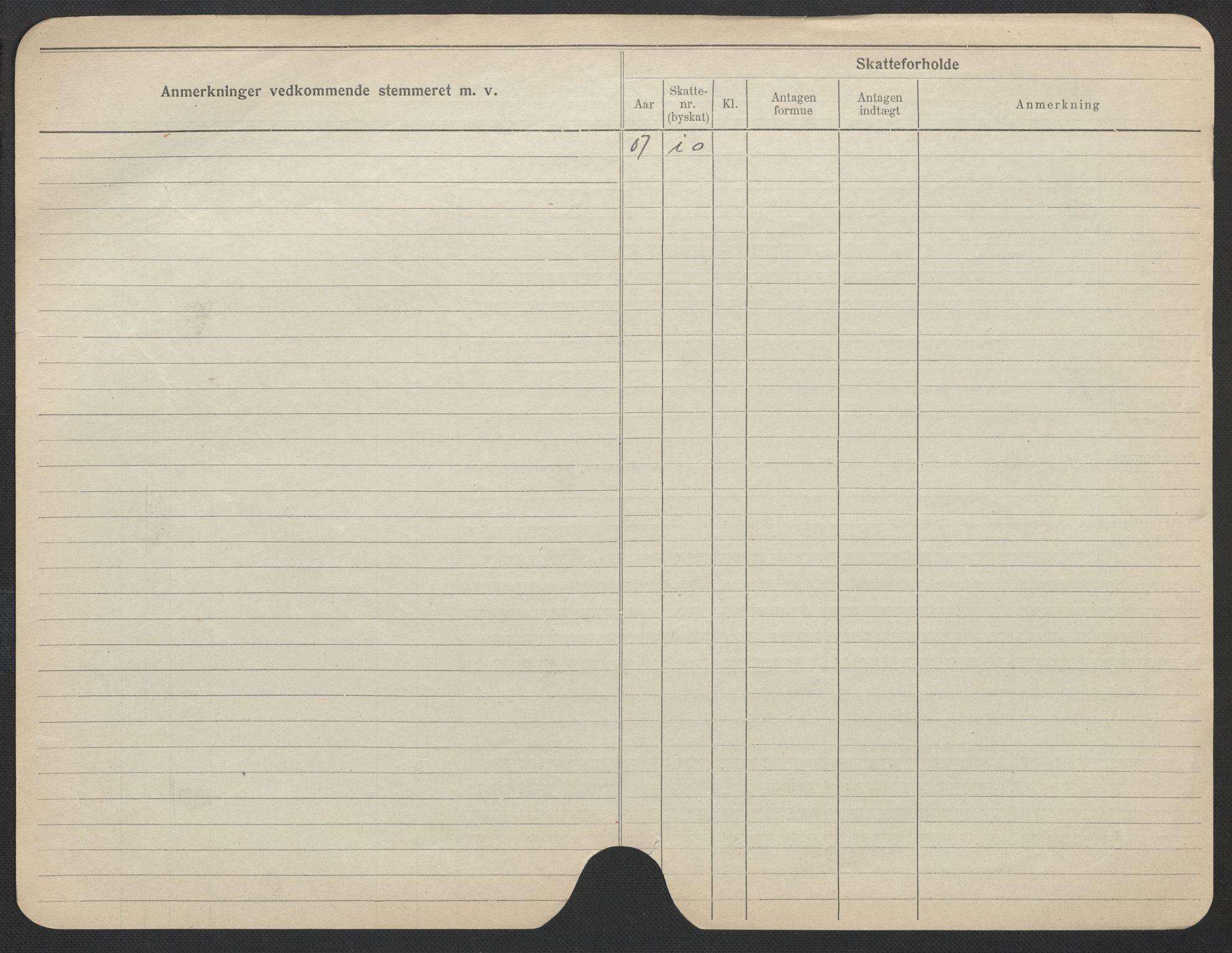 SAO, Oslo folkeregister, Registerkort, F/Fa/Fac/L0021: Kvinner, 1906-1914, s. 500b