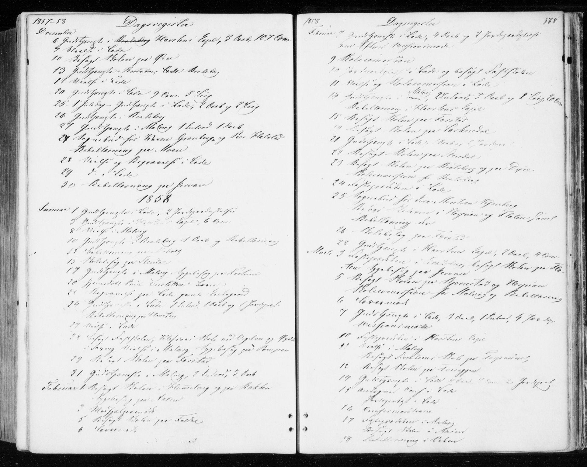 SAT, Ministerialprotokoller, klokkerbøker og fødselsregistre - Sør-Trøndelag, 606/L0292: Ministerialbok nr. 606A07, 1856-1865, s. 568