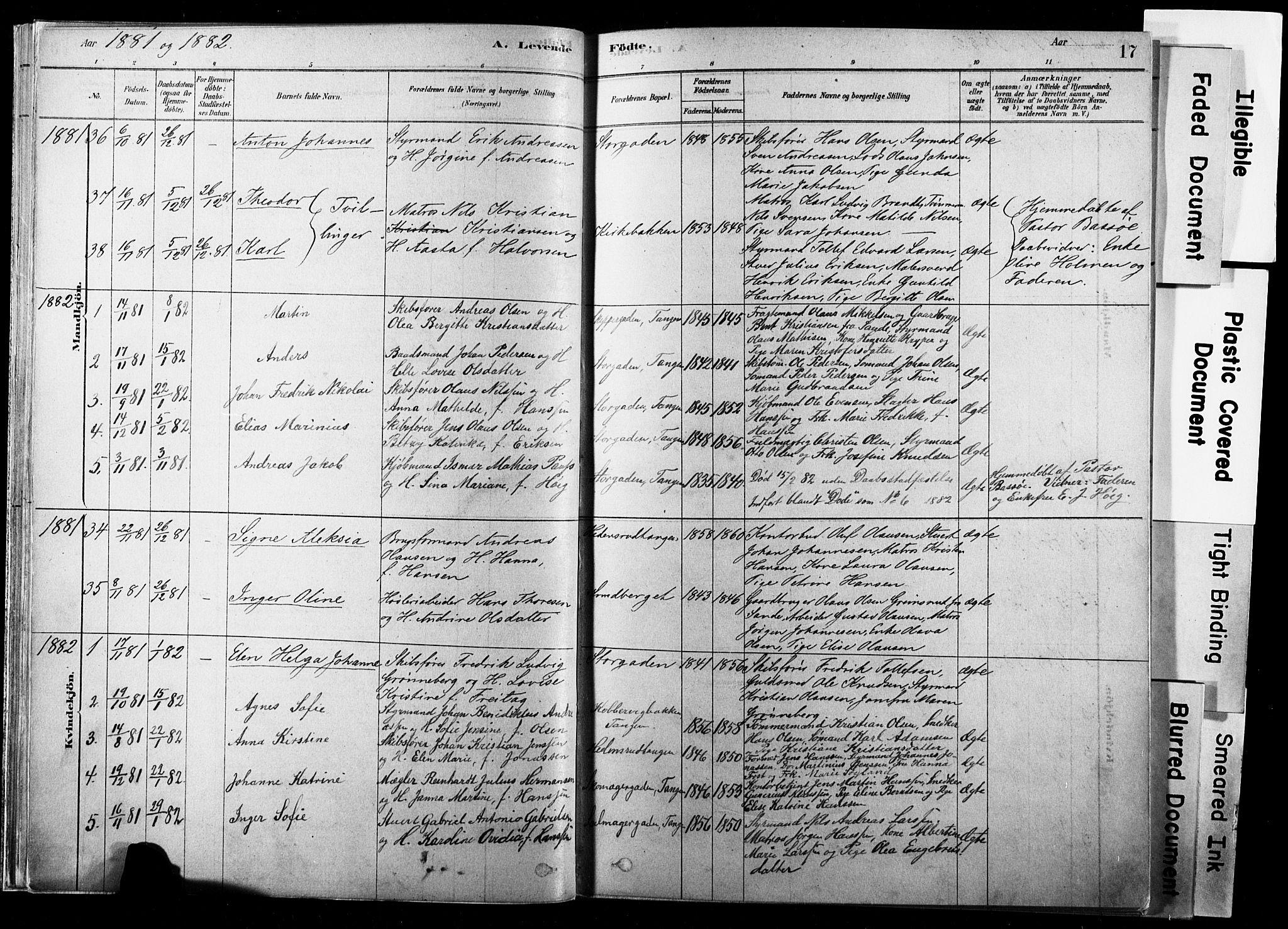 SAKO, Strømsø kirkebøker, F/Fb/L0006: Ministerialbok nr. II 6, 1879-1910, s. 17