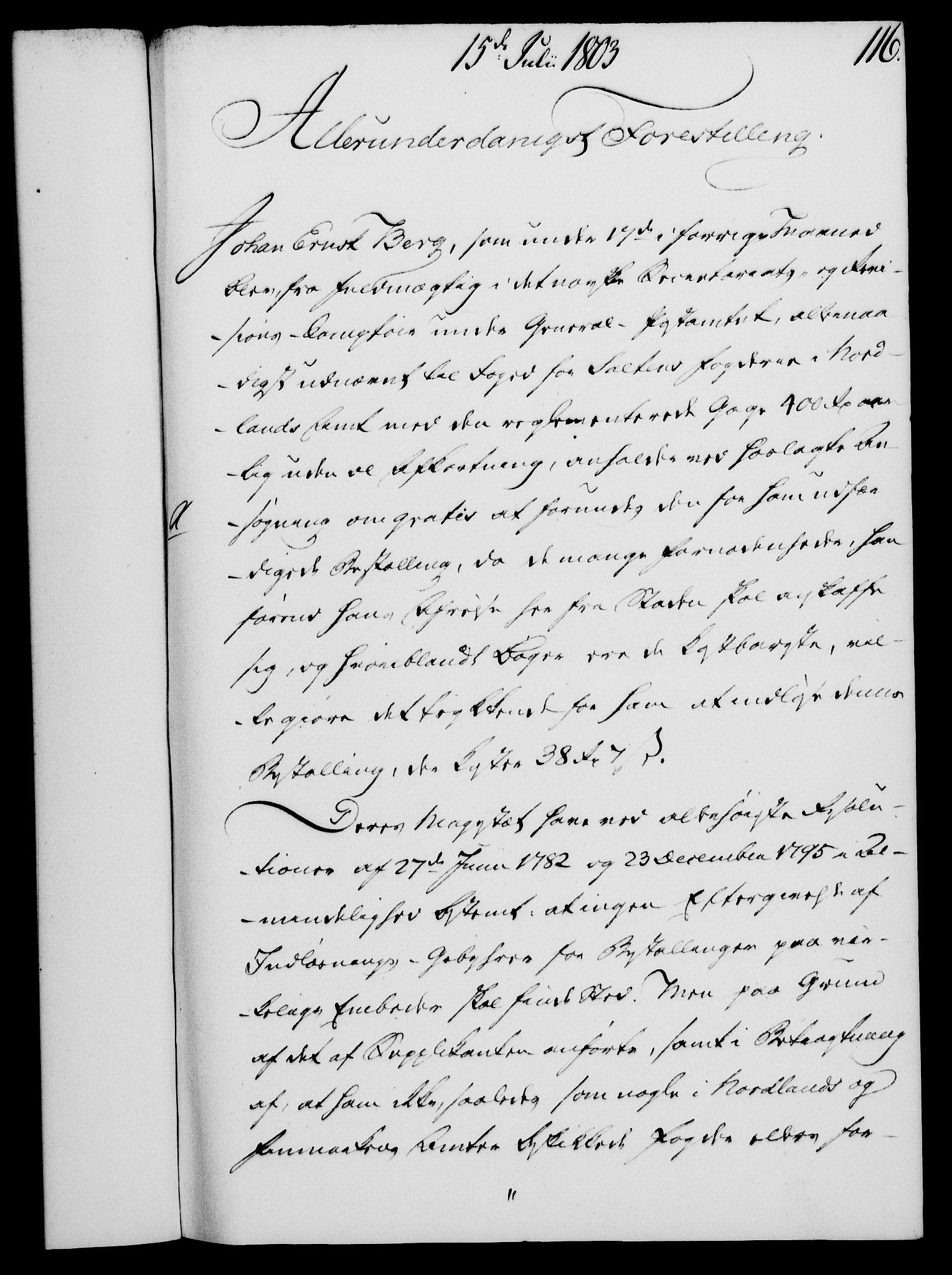 RA, Rentekammeret, Kammerkanselliet, G/Gf/Gfa/L0085: Norsk relasjons- og resolusjonsprotokoll (merket RK 52.85), 1803, s. 663