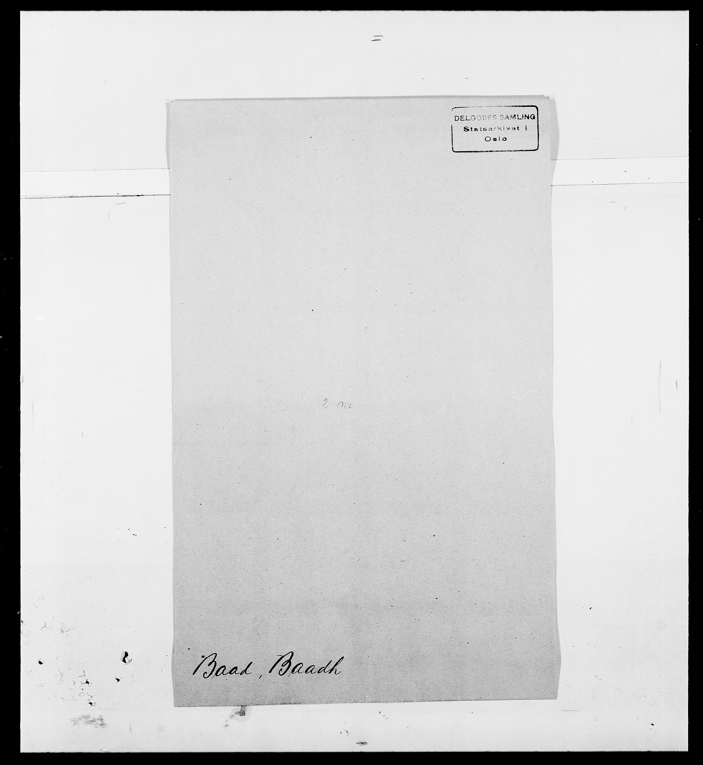 SAO, Delgobe, Charles Antoine - samling, D/Da/L0002: Anker, Ancher - Bauner, s. 535