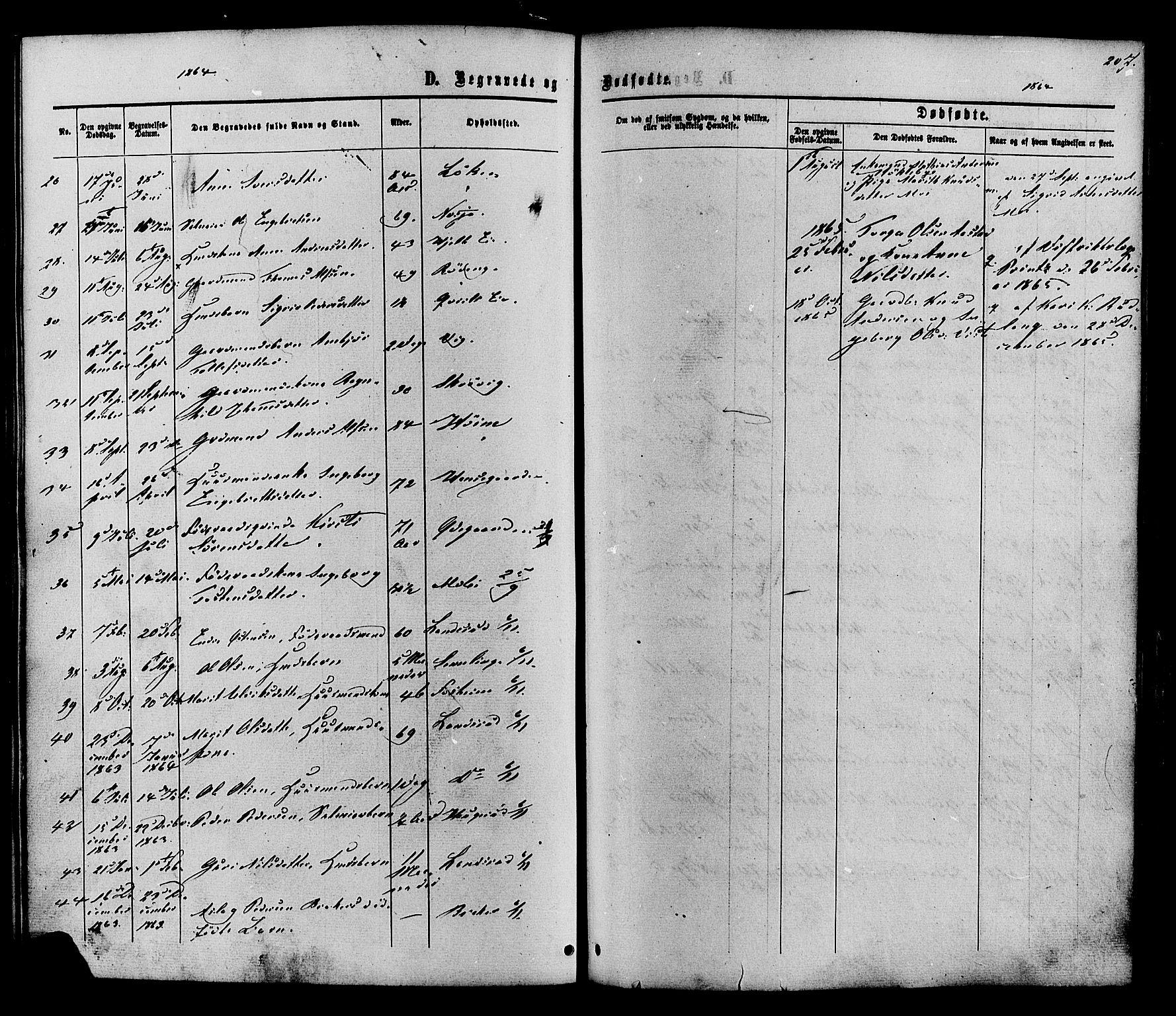 SAH, Vestre Slidre prestekontor, Ministerialbok nr. 3, 1865-1880, s. 207